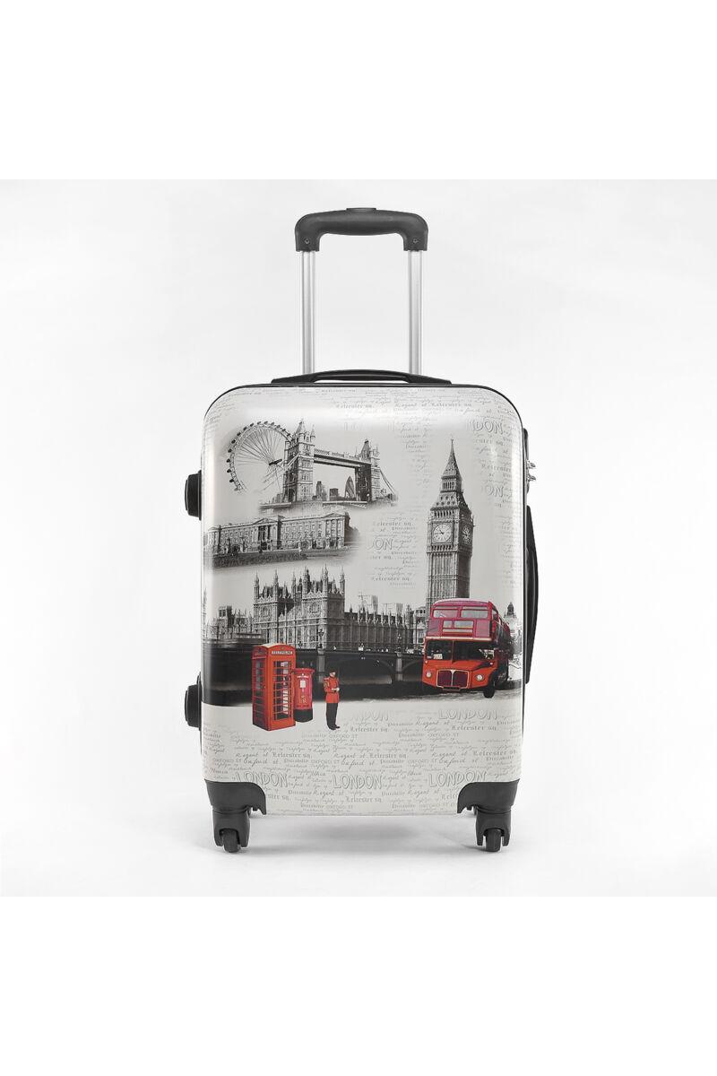 BESTY London Mintás Wizzair, Ryanair Méretű Kabinbőrönd(53*36*20cm)
