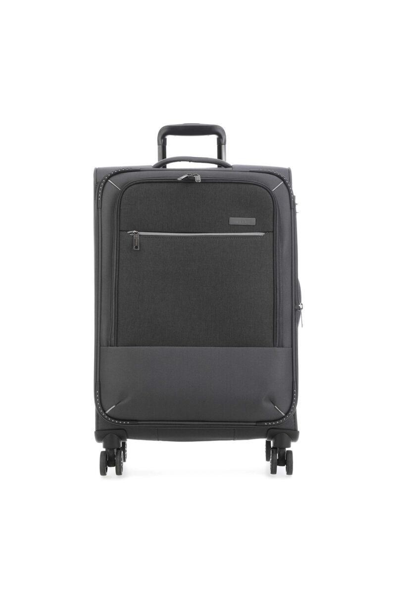 Travelite ARONA Bővithető Nagy Bőrönd Szürke (4 kerekű) 77x47x30/34 cm