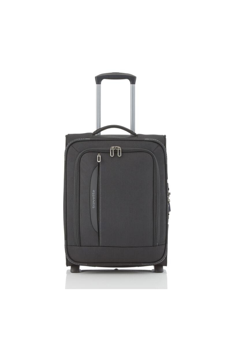 Travelite CROSSLITE Kabinbőrönd (2 kerekű) Bővíthető Fekete 55x39x20/23 cm