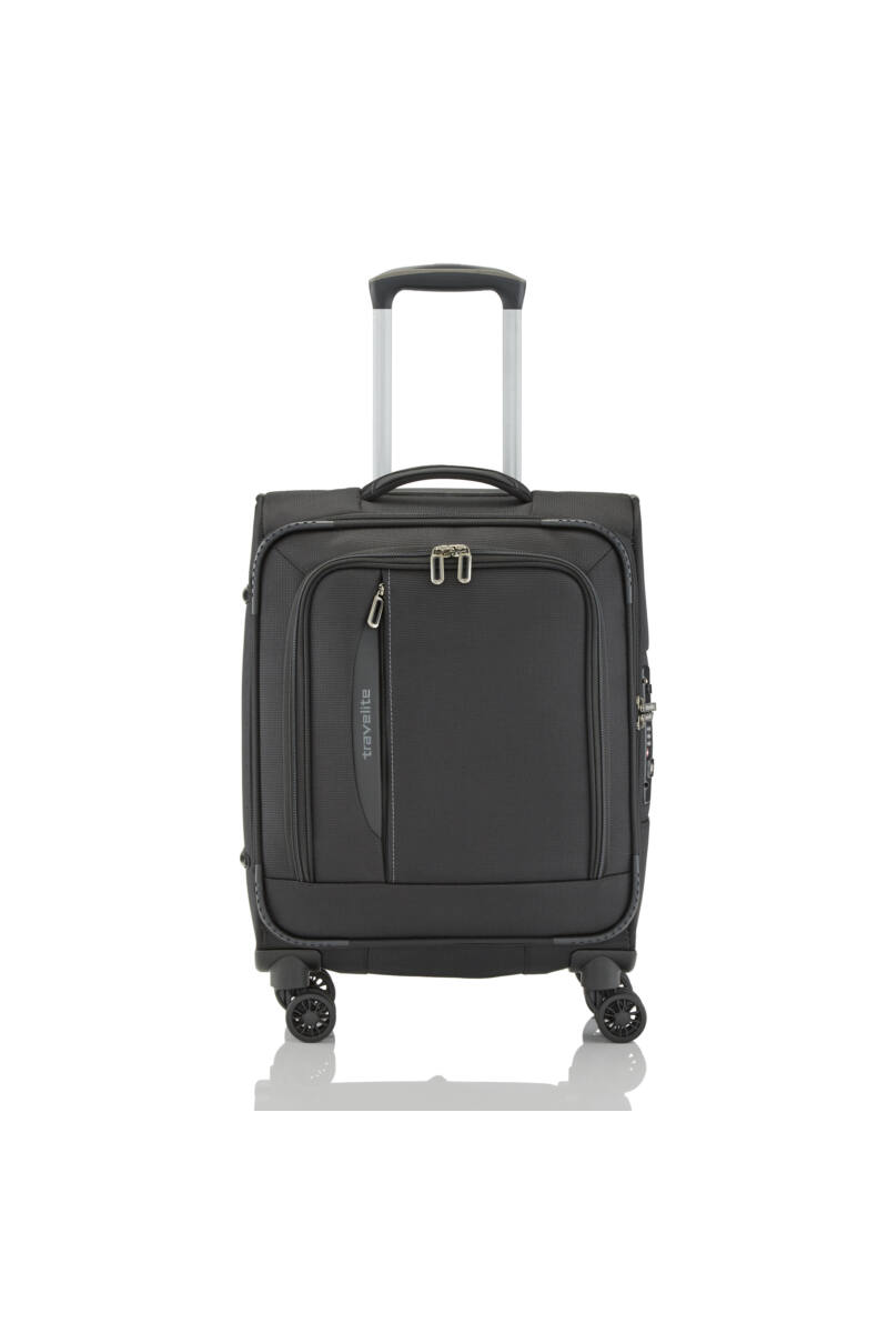 Travelite CROSSLITE Kabinbőrönd (4 kerekű) Fekete 55x39x20 cm