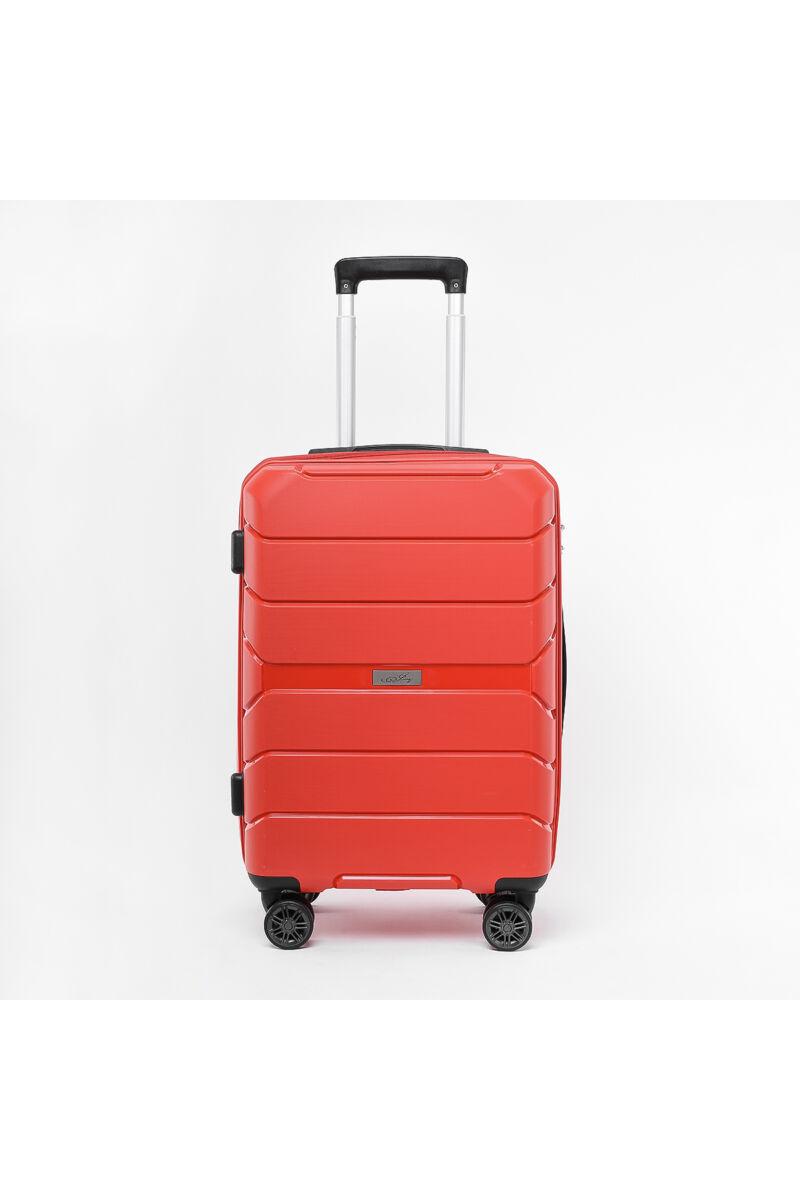 Besty Nagy Méretű Piros Polipropilén Bőrönd (77x48x32 cm)