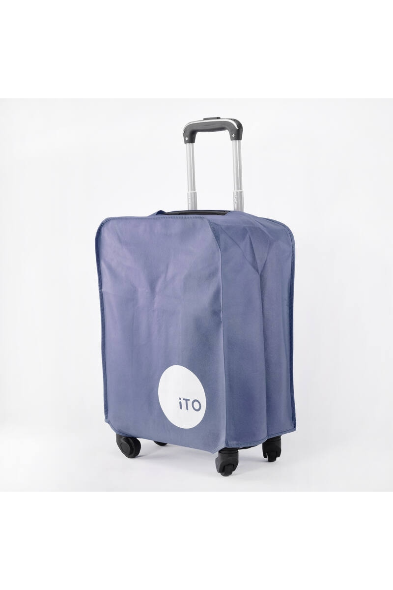 (M) Közepes Méretű Kék Bőröndvédő Huzat