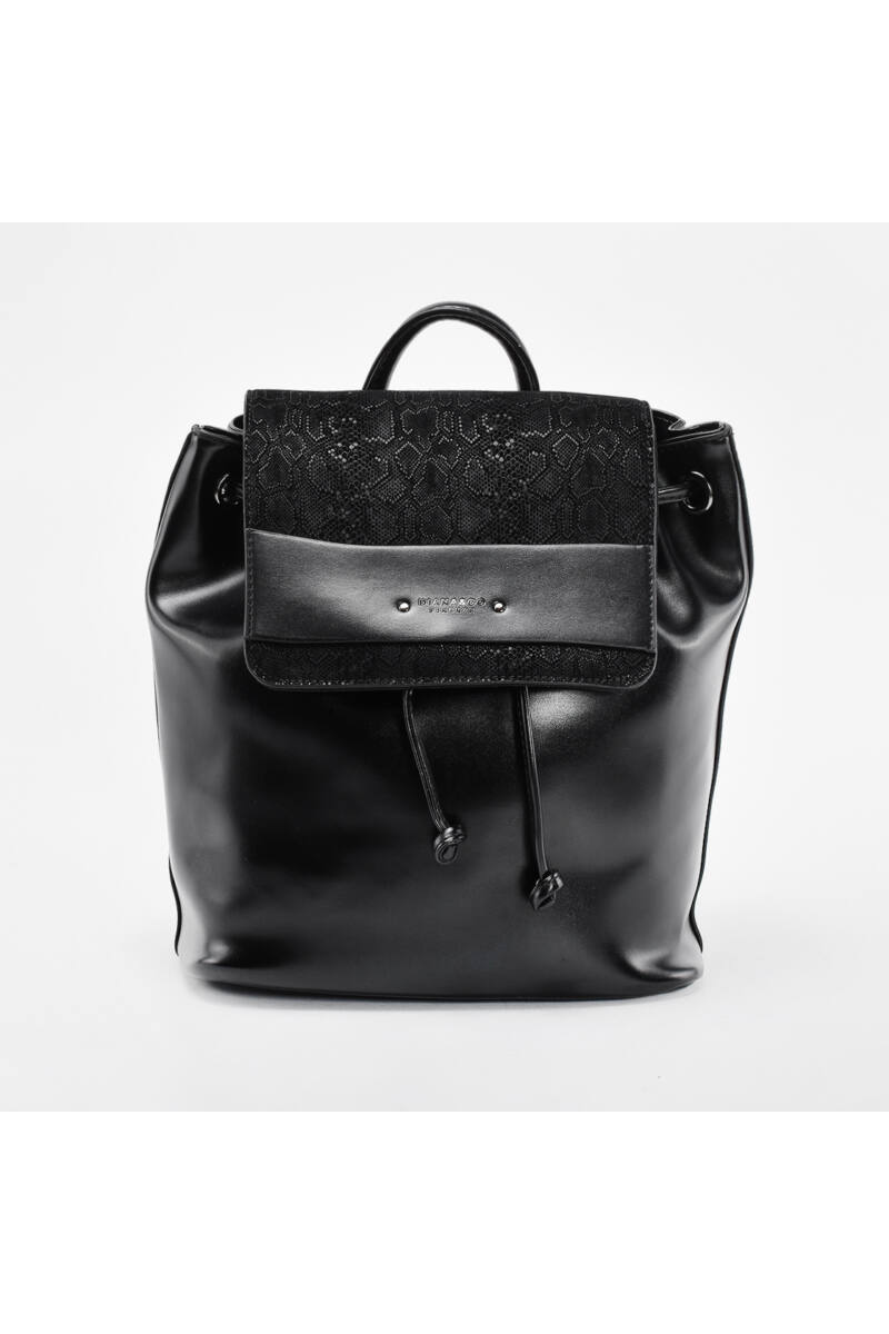 Diana & Co. fekete rostbőr hátizsák