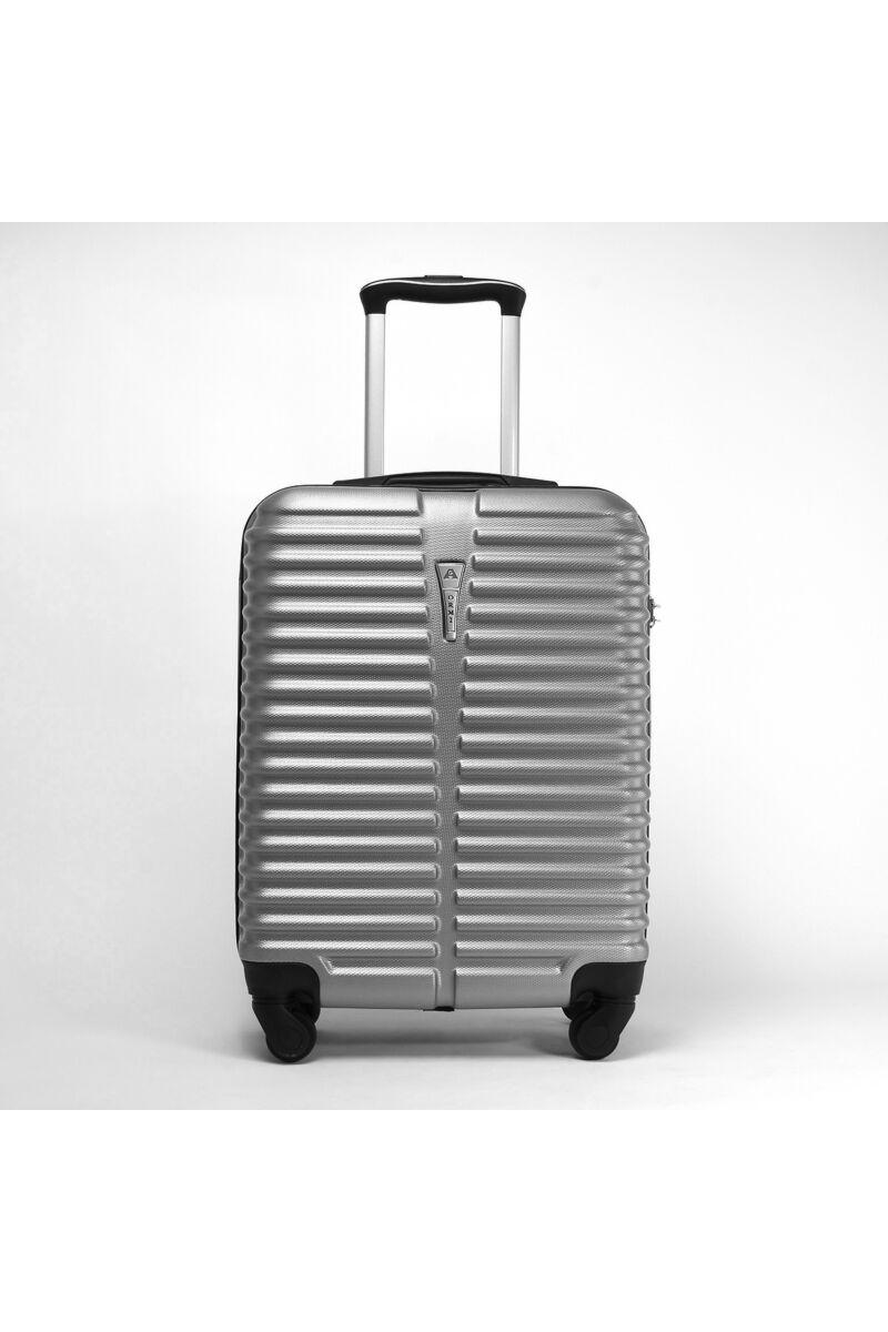 Ezüst Színű Wizz air Ryanair Méretű Kemény Kabinbőrönd (55x38x20cm)