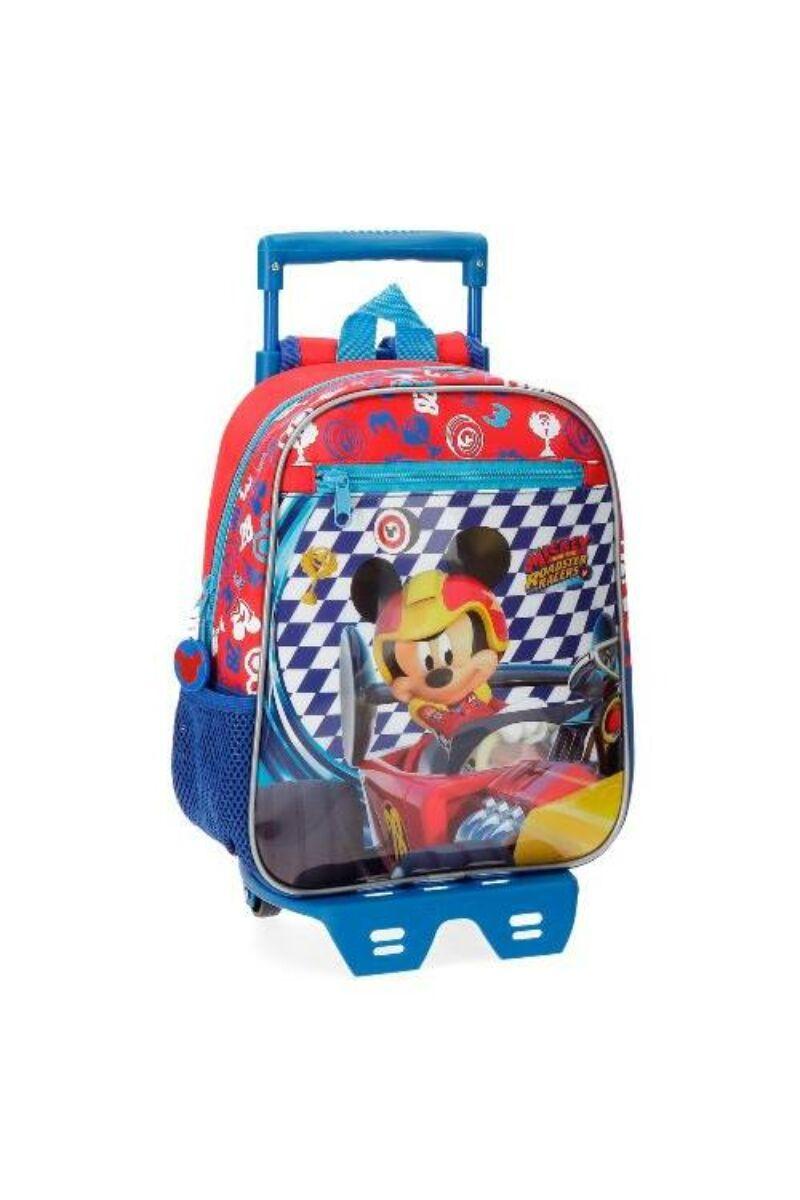 Mickey Roadster Racers Kék-Piros Gyermek Gurulós Hátizsák