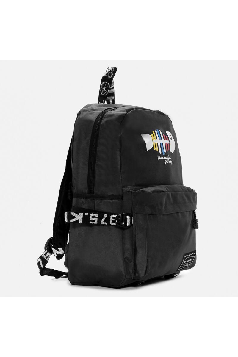 Wizzair Méretű Fekete Hal Mintás hátizsák