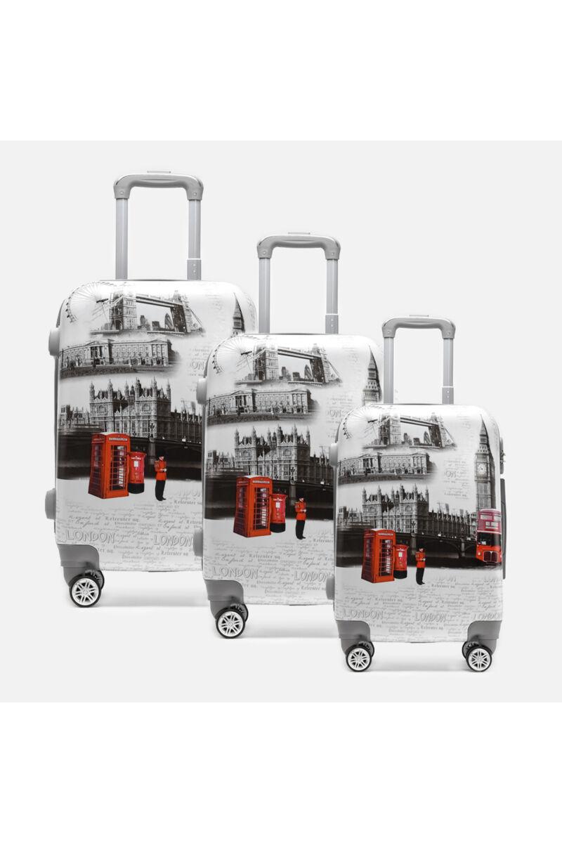 Ormi London Kemény Bőrönd Szett