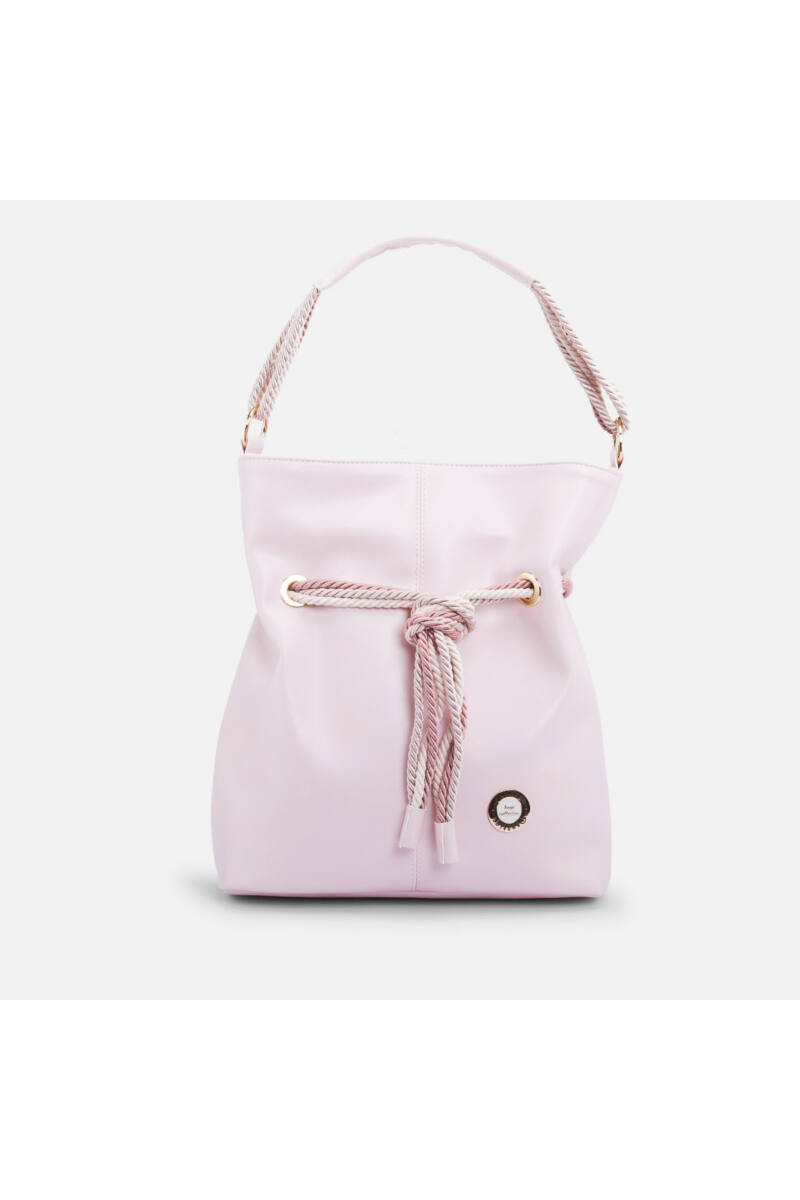 Prestige Világos Rózsaszín Női Rostbőr Válltáska