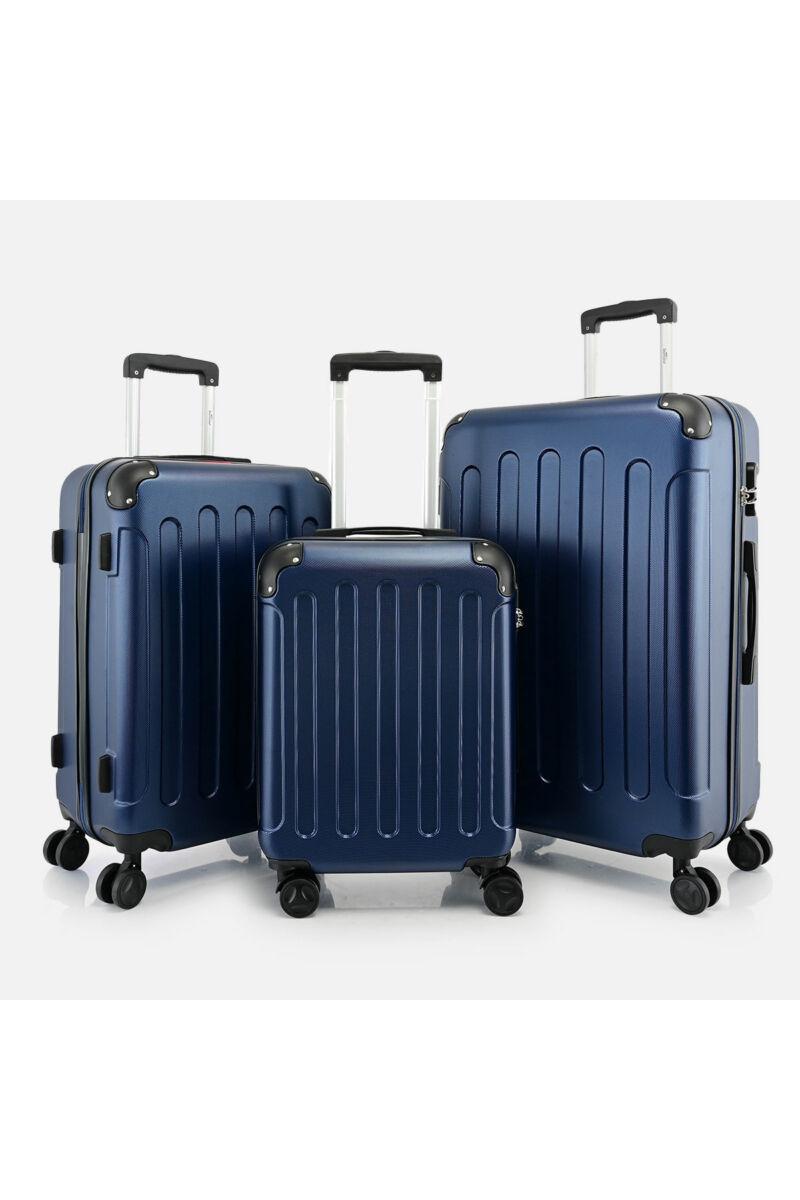 Bontour Sötétkék Vertical Kabinbőrönd Szett (L, M, S)