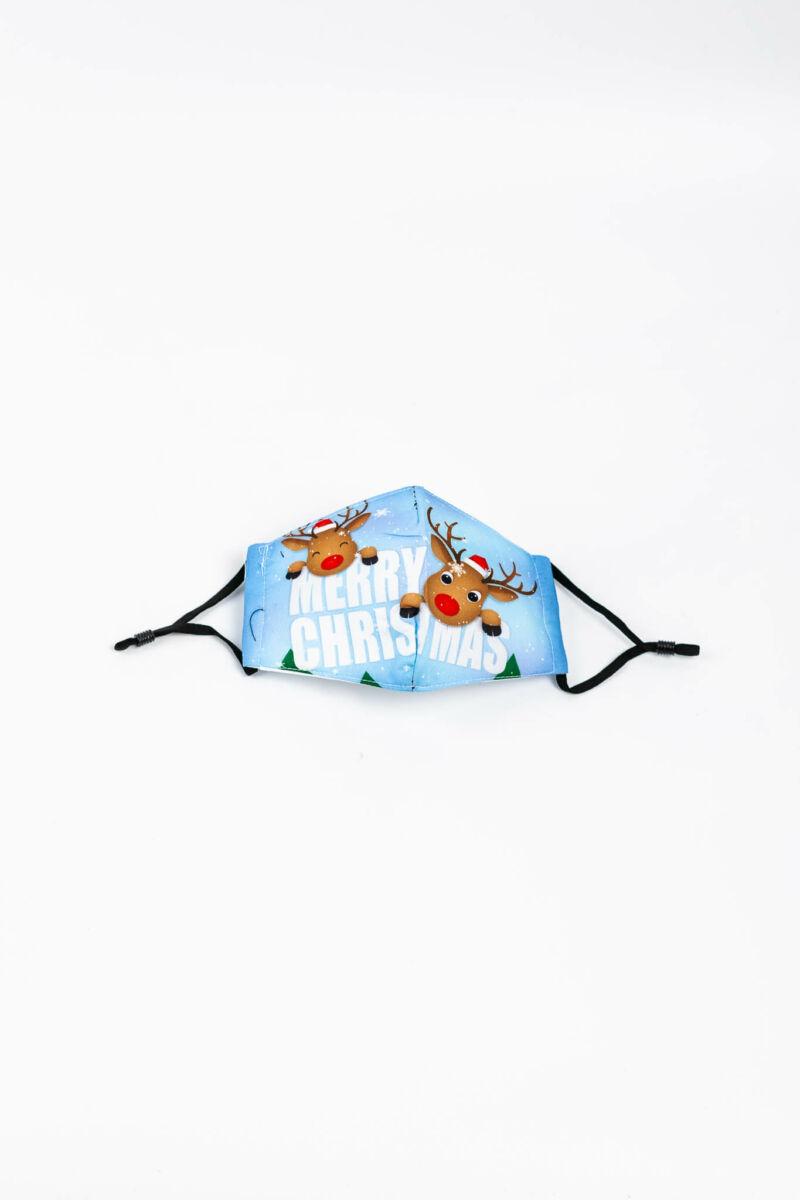 Merry Christmas Feliratú 2 Rétegű Trendi Textil Gyerek Szájmaszk