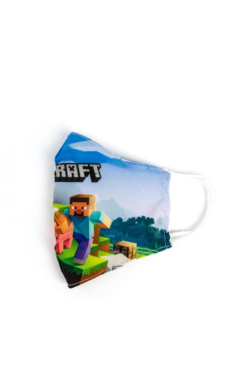 Minecraftos 2 Rétegű Trendi Textil Gyerek Szájmaszk