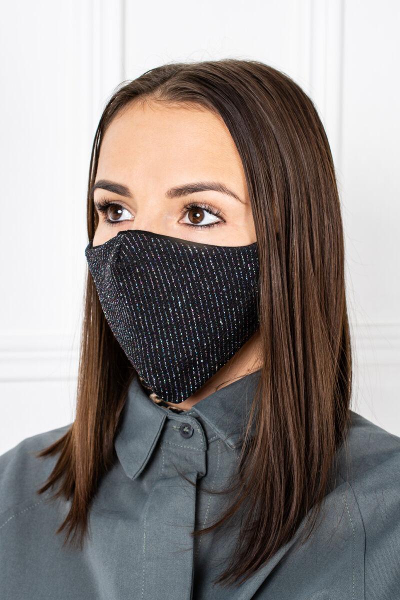 Színes Flitteres 2 Rétegű Trendi Textil Szájmaszk