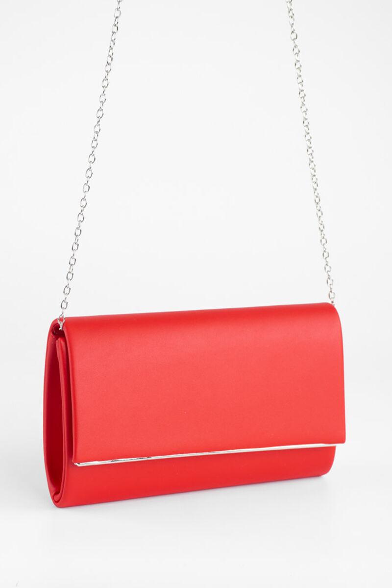 Piros műbőr elegáns női alkalmi táska