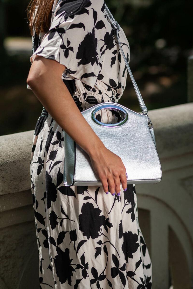 Besty Női Ezüst színű kézi táska oldaltáska