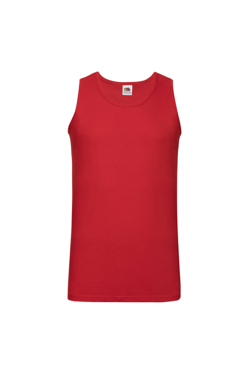 Fruit Of The Loom Valuweight Athletic Vest Piros Férfi Atléta
