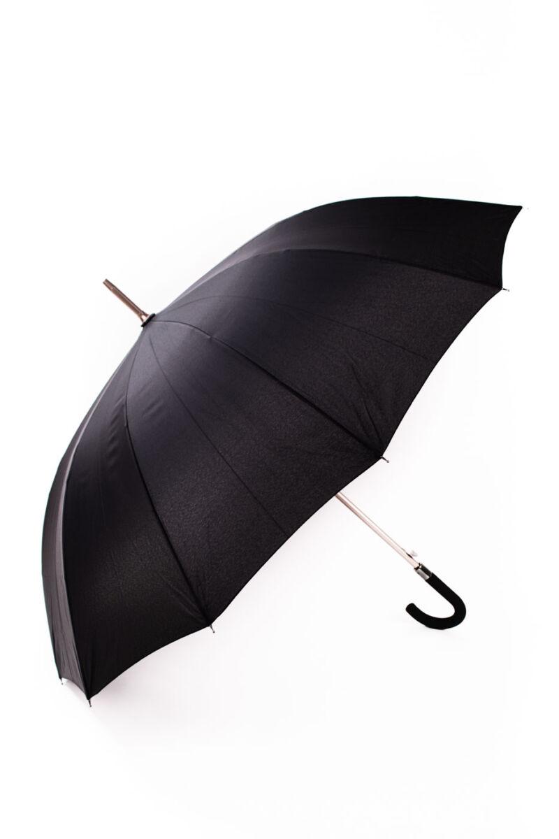Letisztult Fekete Bot Esernyő, 116 cm Átmérővel