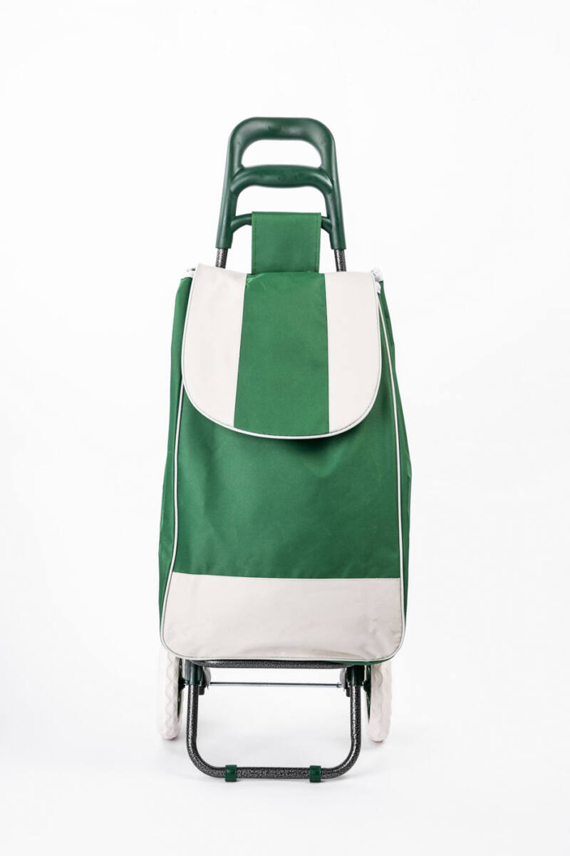 Nagy Kerekű Bevásárlókocsi Zöld