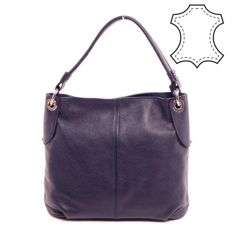 Valódi Bőr Sötétkék Női Válltáska - Válltáskák - Táska webáruház - Minőségi  táskák mindenkinek 9a8bfd4d3f