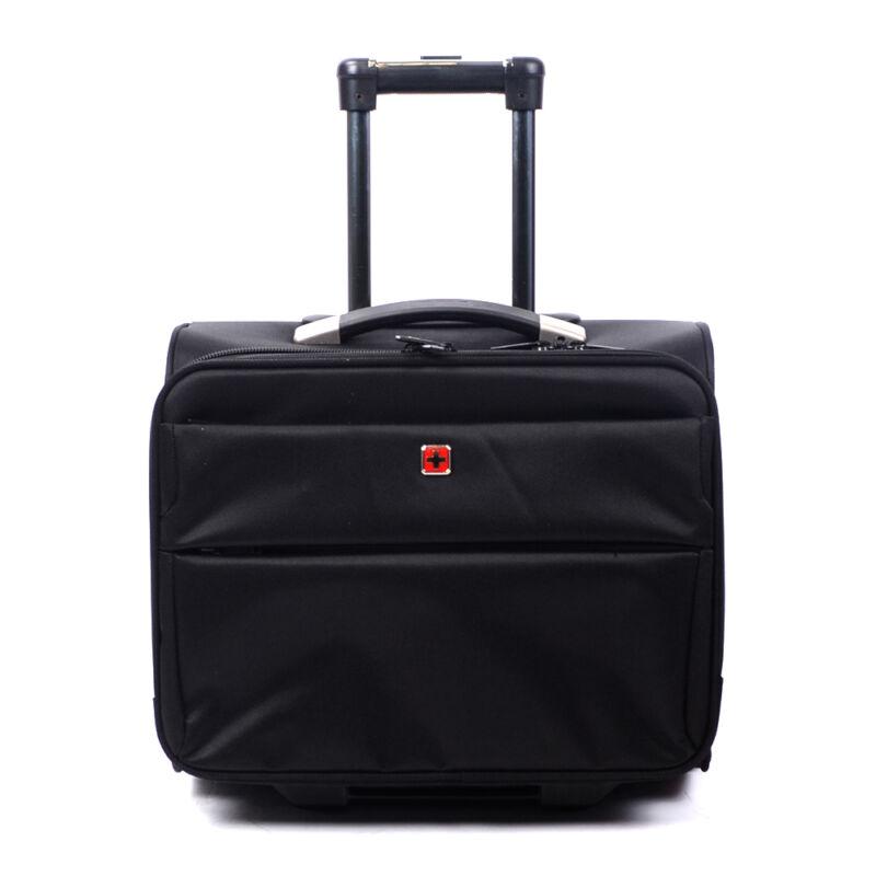 Swisswin Fekete Wizzair Méretű Kabinbőrönd (2 Kerekű) - KABIN (kis) MÉRETŰ  BŐRÖNDÖK - Táska webáruház - Minőségi táskák mindenkinek 85d17751fa