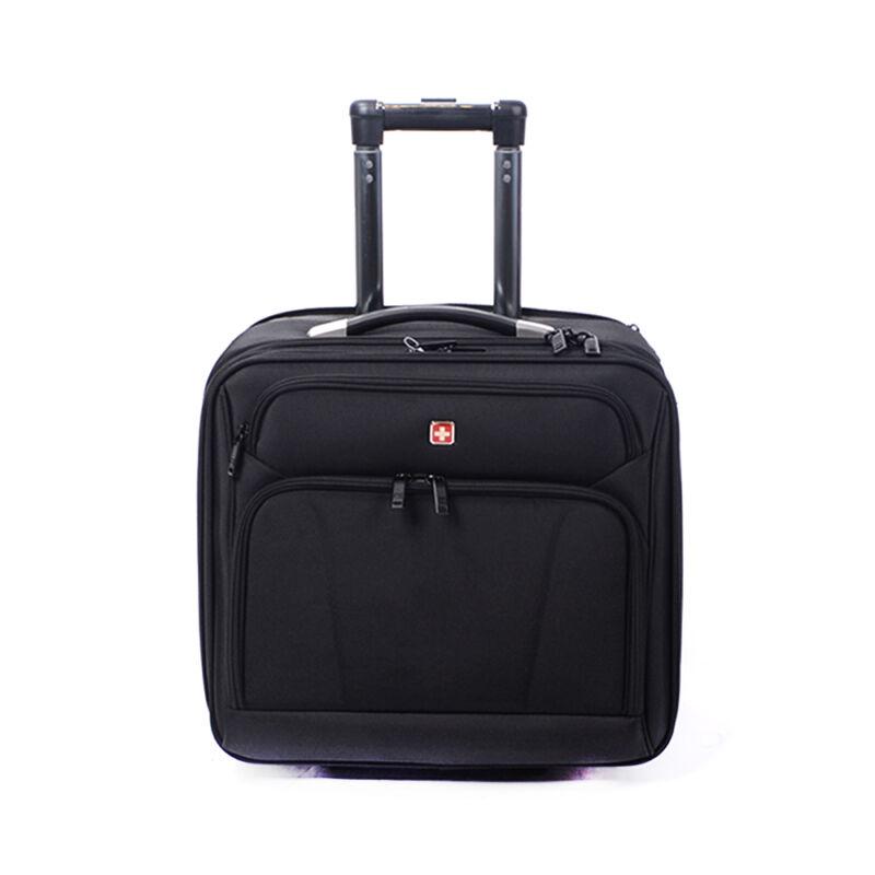Swisswin Gurulós Fekete Kis Méretű Bőrönd (2 Kerekű) - SWISS - Táska  webáruház - Minőségi táskák mindenkinek a80ad5de5b