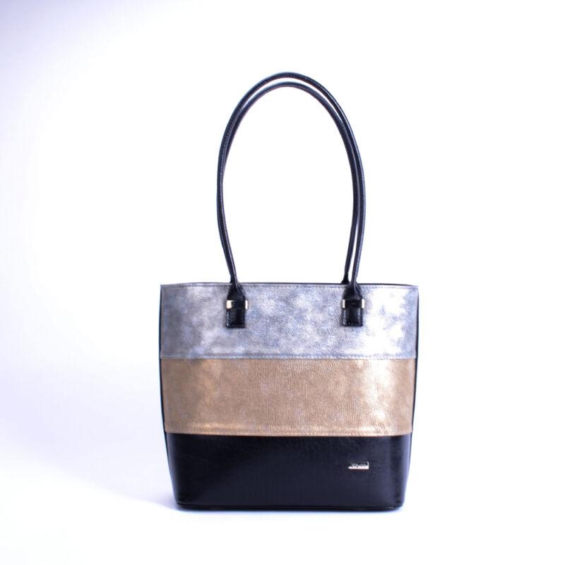 Via 55 Elegáns Alkalmi Fekete Arany Ezüst Csíkos Válltáska - Válltáskák - Táska  webáruház - Minőségi táskák mindenkinek 4cbd38b6b3