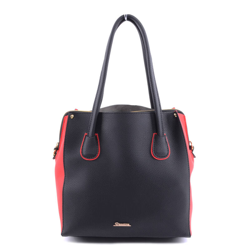 Prestige Női Műbőr Válltáska Fekete-Piros - Válltáskák - Táska webáruház -  Minőségi táskák mindenkinek aced98f5c9
