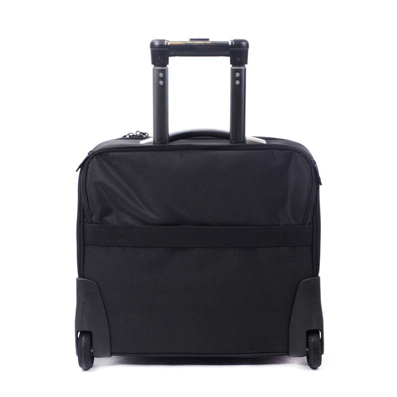 Swisswin Gurulós Fekete Kis Méretű Bőrönd (2 Kerekű) - SWISS - Táska ... b8560d9477