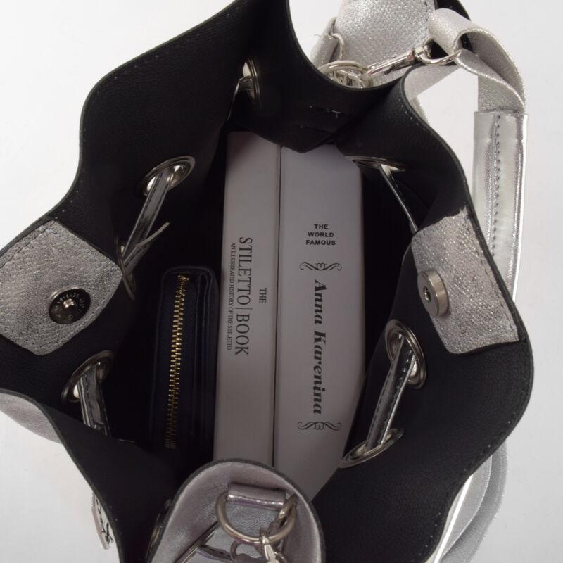 d1b651dd278b Prestige Női Ezüst Kígyóbőr mintás válltáska - Válltáskák - Táska ...