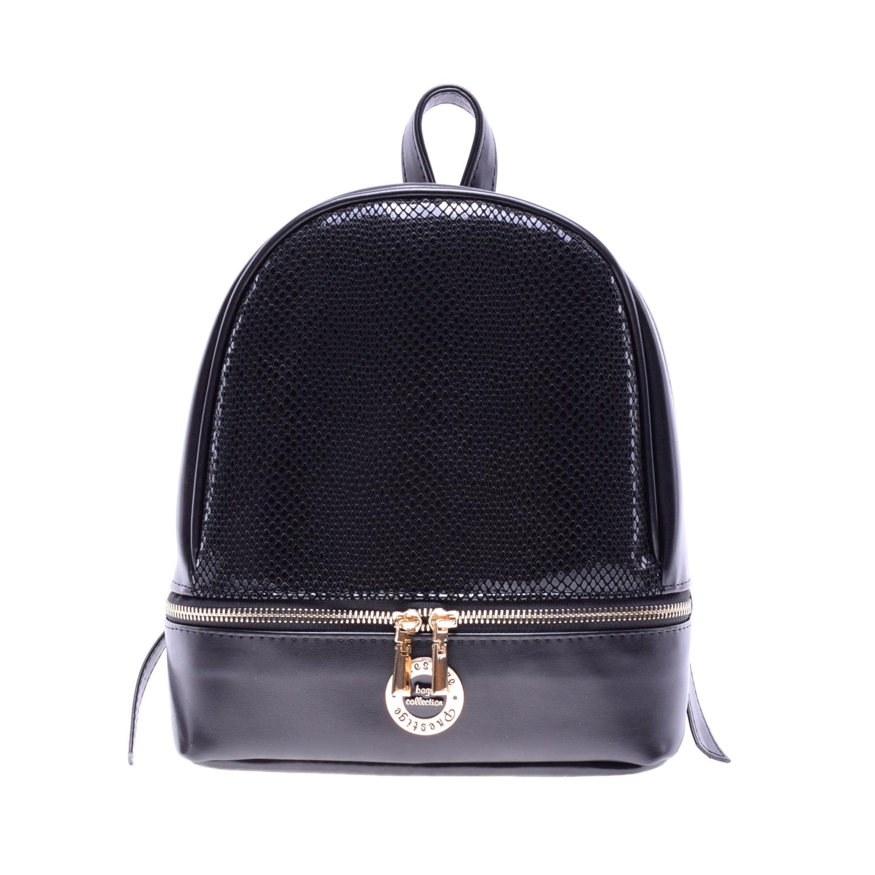 Prestige Női Műbőr Fekete kisméretű Hátizsák - Műbőr - Táska webáruház -  Minőségi táskák mindenkinek 0958b235cd