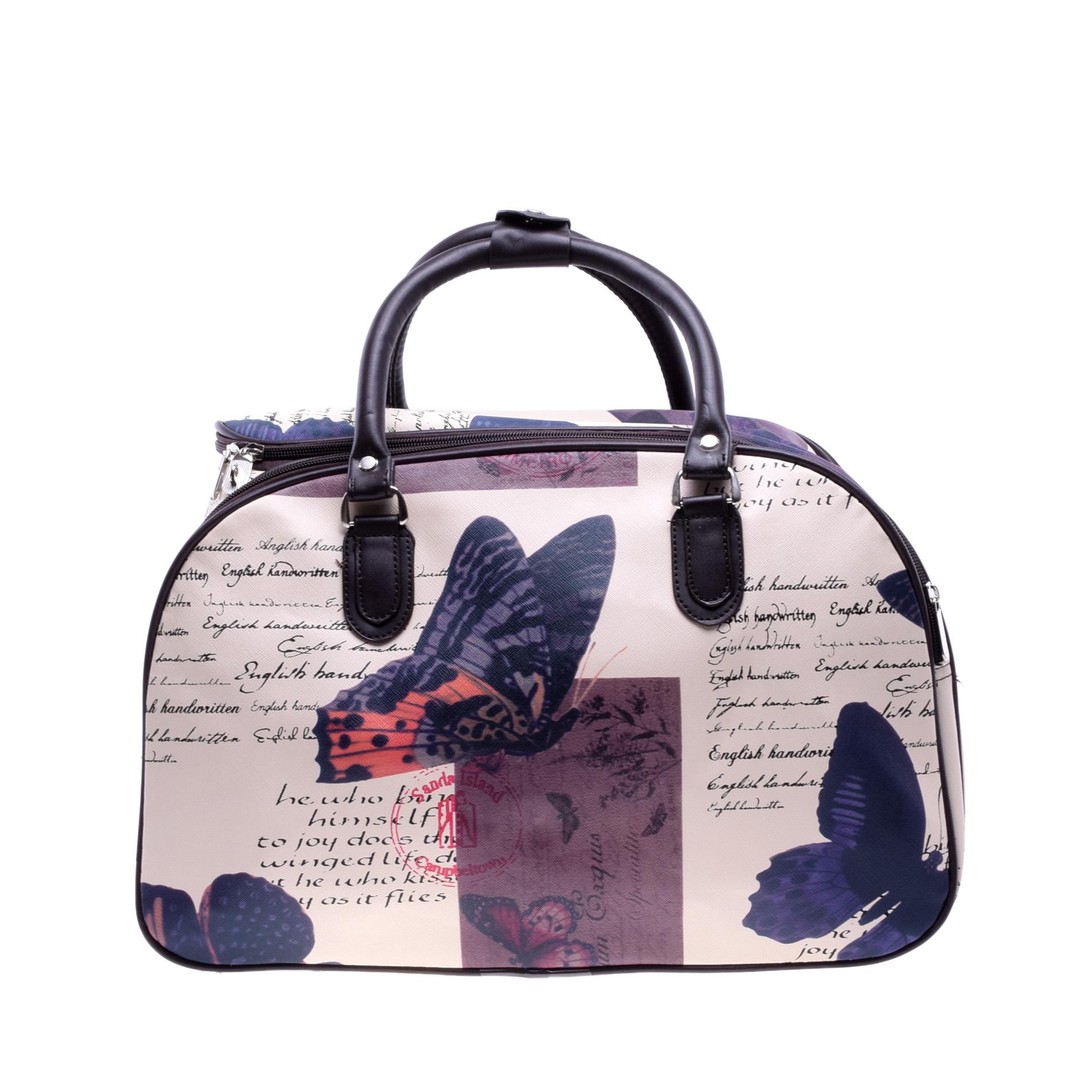 Női Műbőr kis méret Kék Pillangó Minta utzótáska - KIS MÉRETŰ UTAZÓTÁSKA -  Táska webáruház - Minőségi táskák mindenkinek 4430fee43b