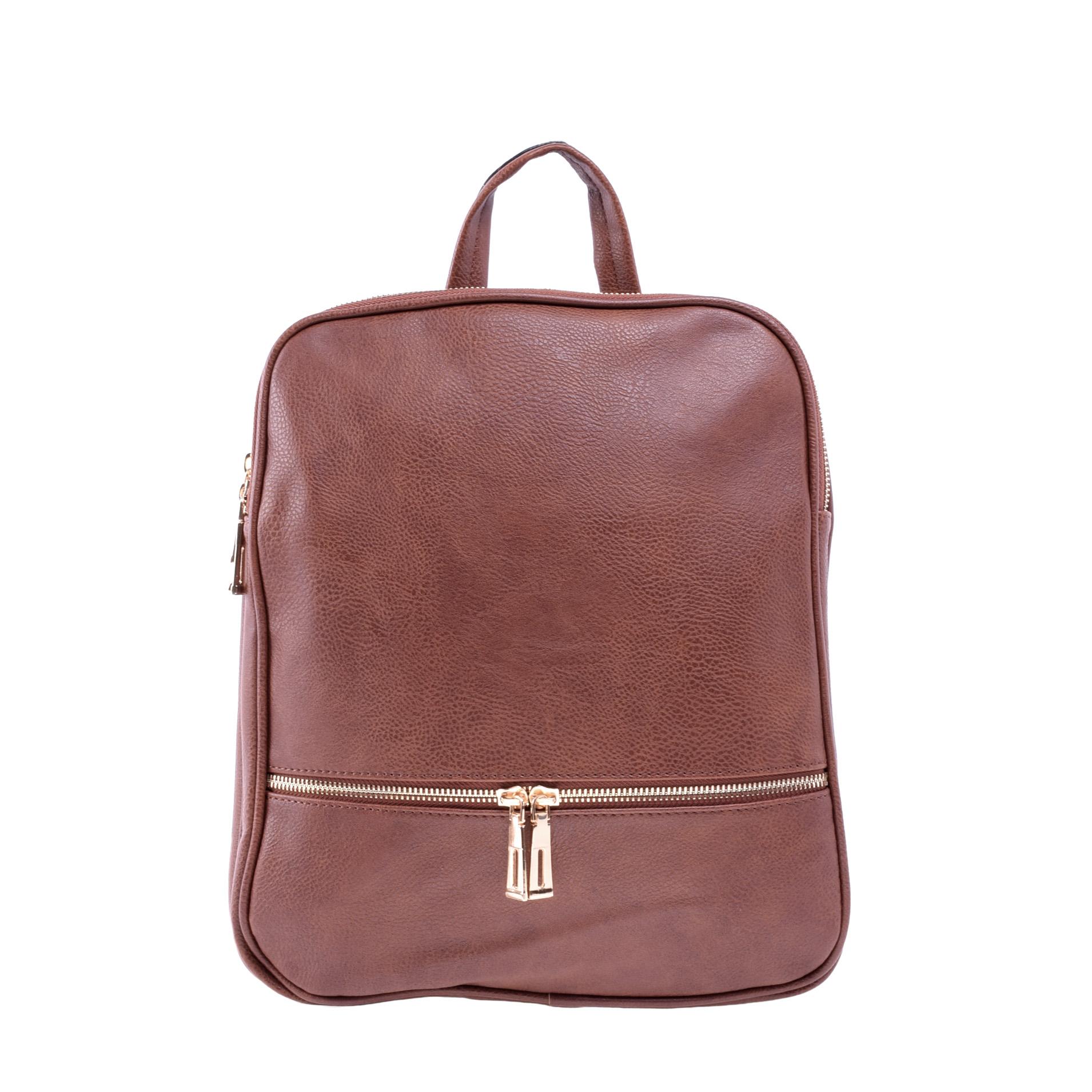 50f5c56f414e Barna Női Műbőr Hátizsák - Műbőr - Táska webáruház - Minőségi táskák  mindenkinek
