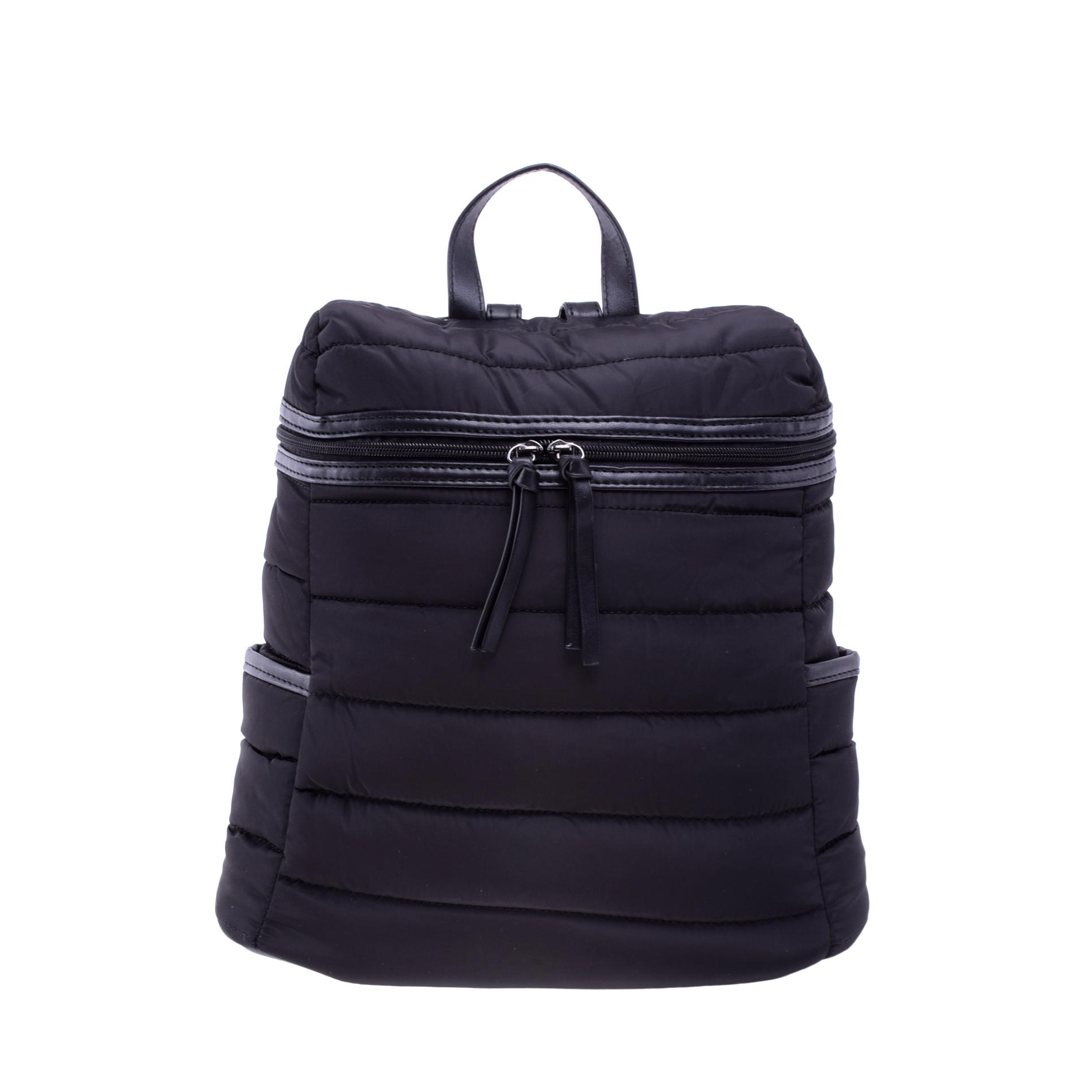 cacd21f04322 Női Fekete Poliészter Hátizsák - Női divat hátizsákok - Táska webáruház -  Minőségi táskák mindenkinek
