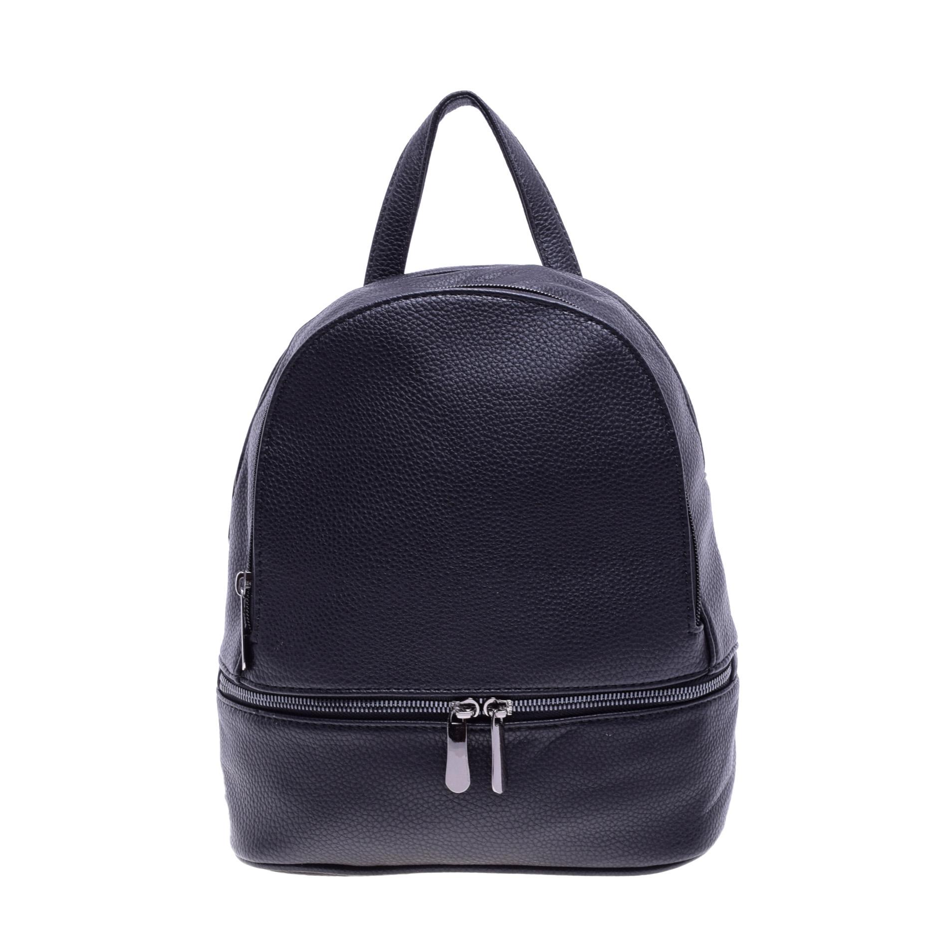 9b568d532076 Női Közepes Méretű Fekete Műbőr Hátizsák - Műbőr - Táska webáruház -  Minőségi táskák mindenkinek
