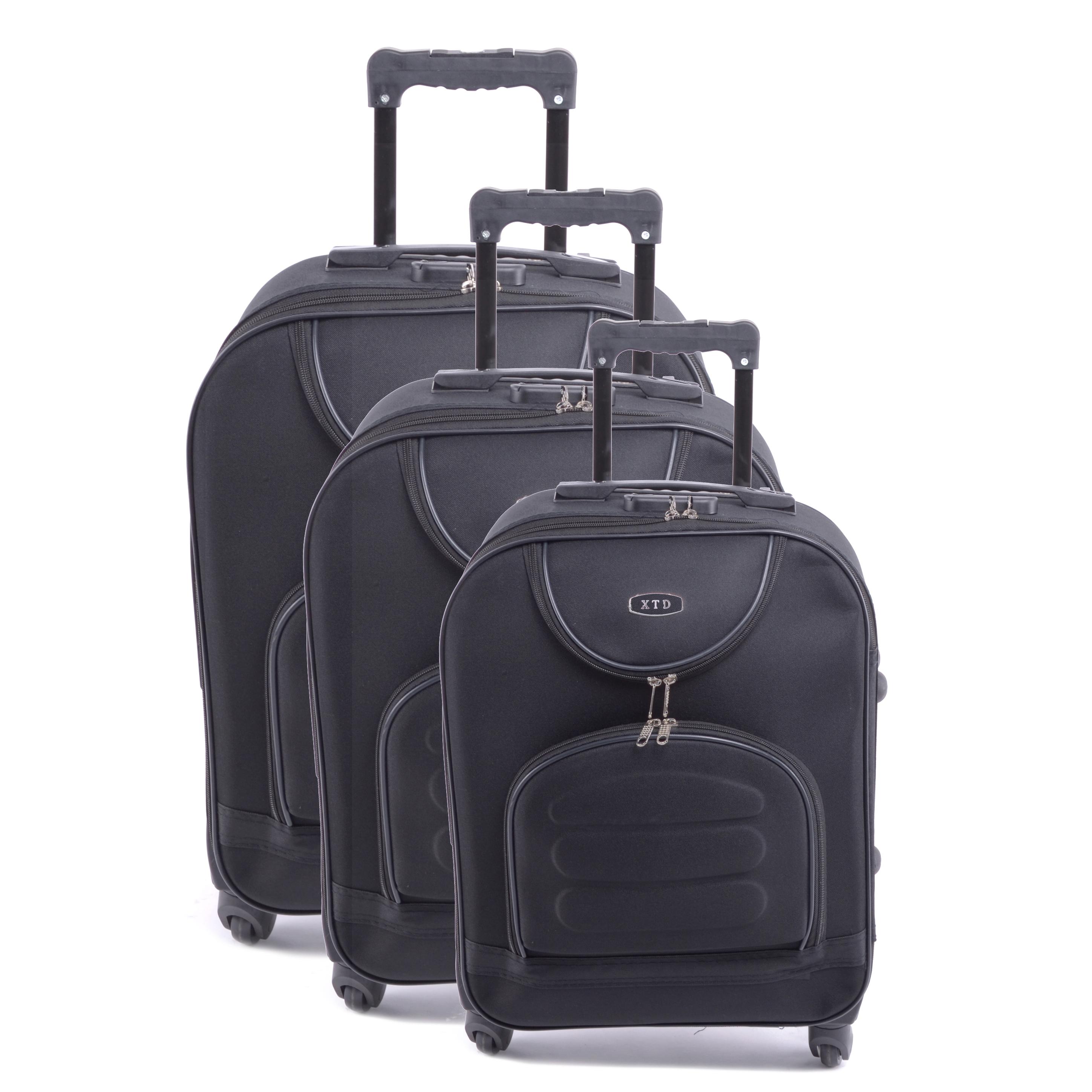 Xtd Bőrőnd Szett Fekete (4 Kerekű) - NAGY MÉRETŰ BŐRÖNDÖK - Táska webáruház  - Minőségi táskák mindenkinek aa43387bcd
