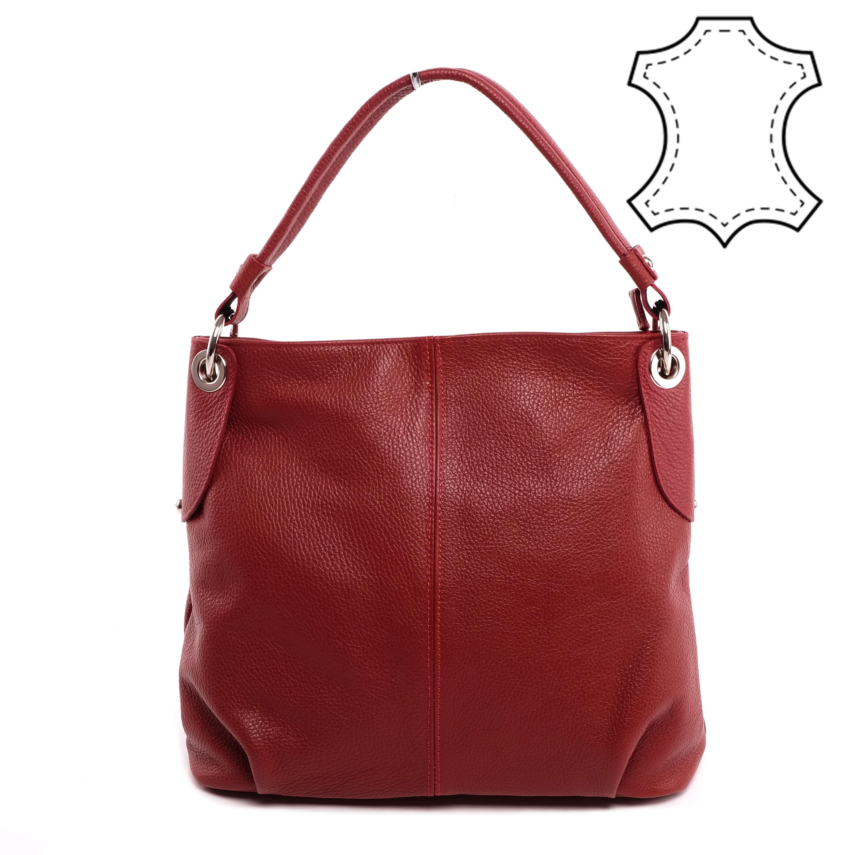 831b094213 Valódi Bőr Bordó Női Válltáska - Válltáskák - Táska webáruház - Minőségi  táskák mindenkinek
