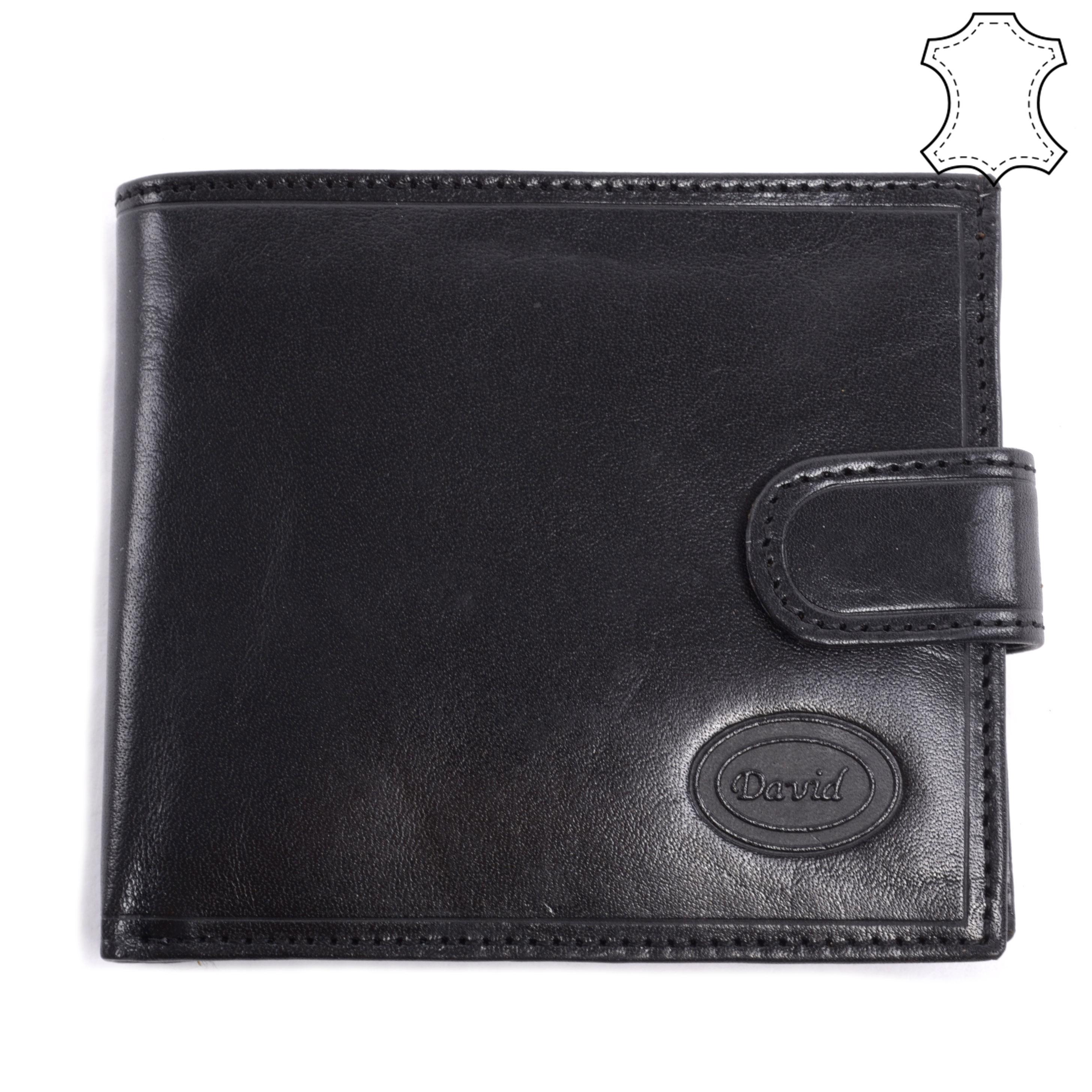 Fekete Férfi Valódi Bőr Pénztárca - FÉRFI PÉNZTÁRCA - Táska webáruház - Minőségi  táskák mindenkinek a7547d182d