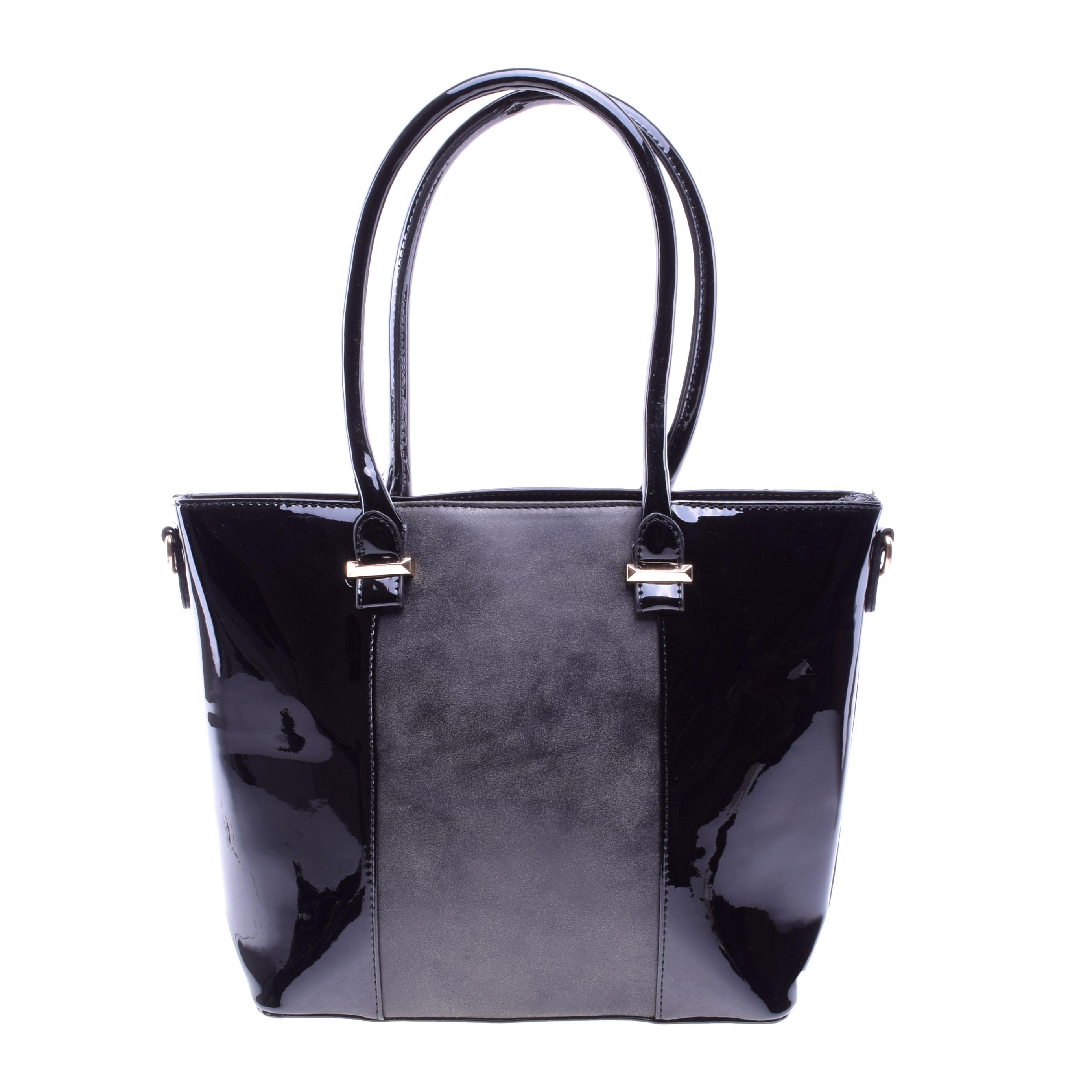 Női Fekete Lakk Válltáska - Válltáskák - Táska webáruház - Minőségi táskák  mindenkinek b6c481bff7