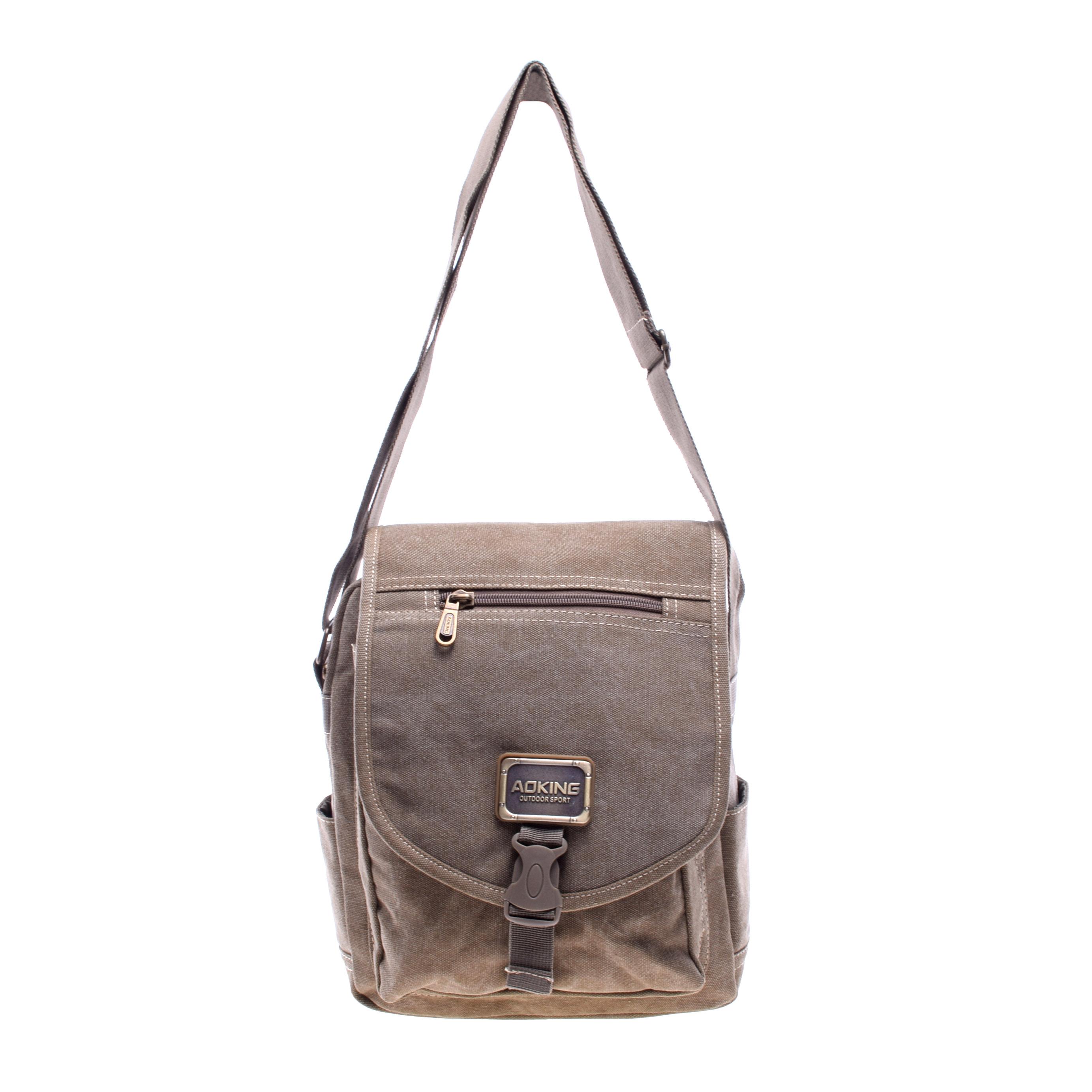 8e2ad077cc46 Aoking Férfi Barna Textil Oldaltáska - OLDALTÁSKÁK - Táska webáruház -  Minőségi táskák mindenkinek