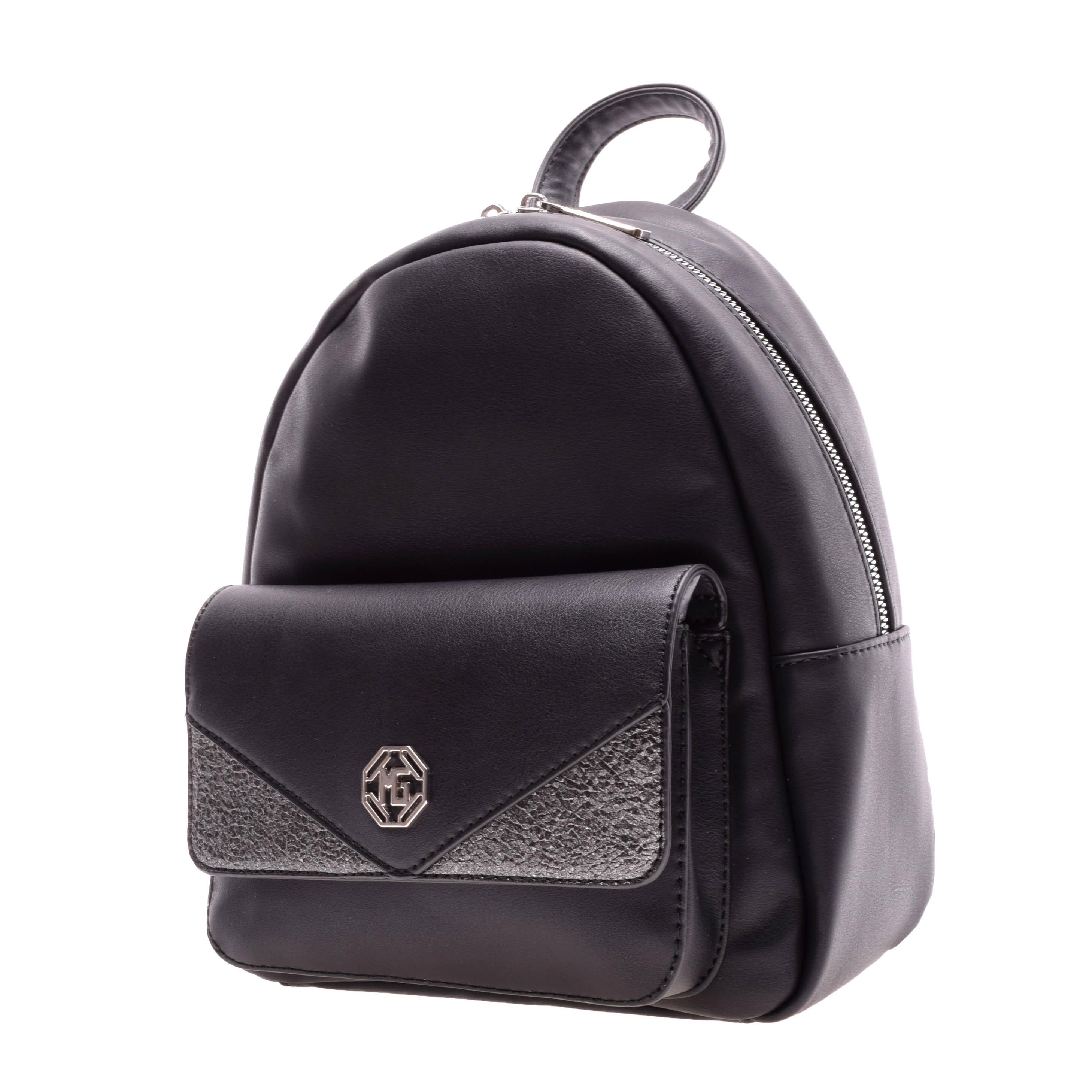 Marina Galanti Női Fekete Rostbőr Hátizsák - Műbőr - Táska webáruház -  Minőségi táskák mindenkinek 734ee6c7a6