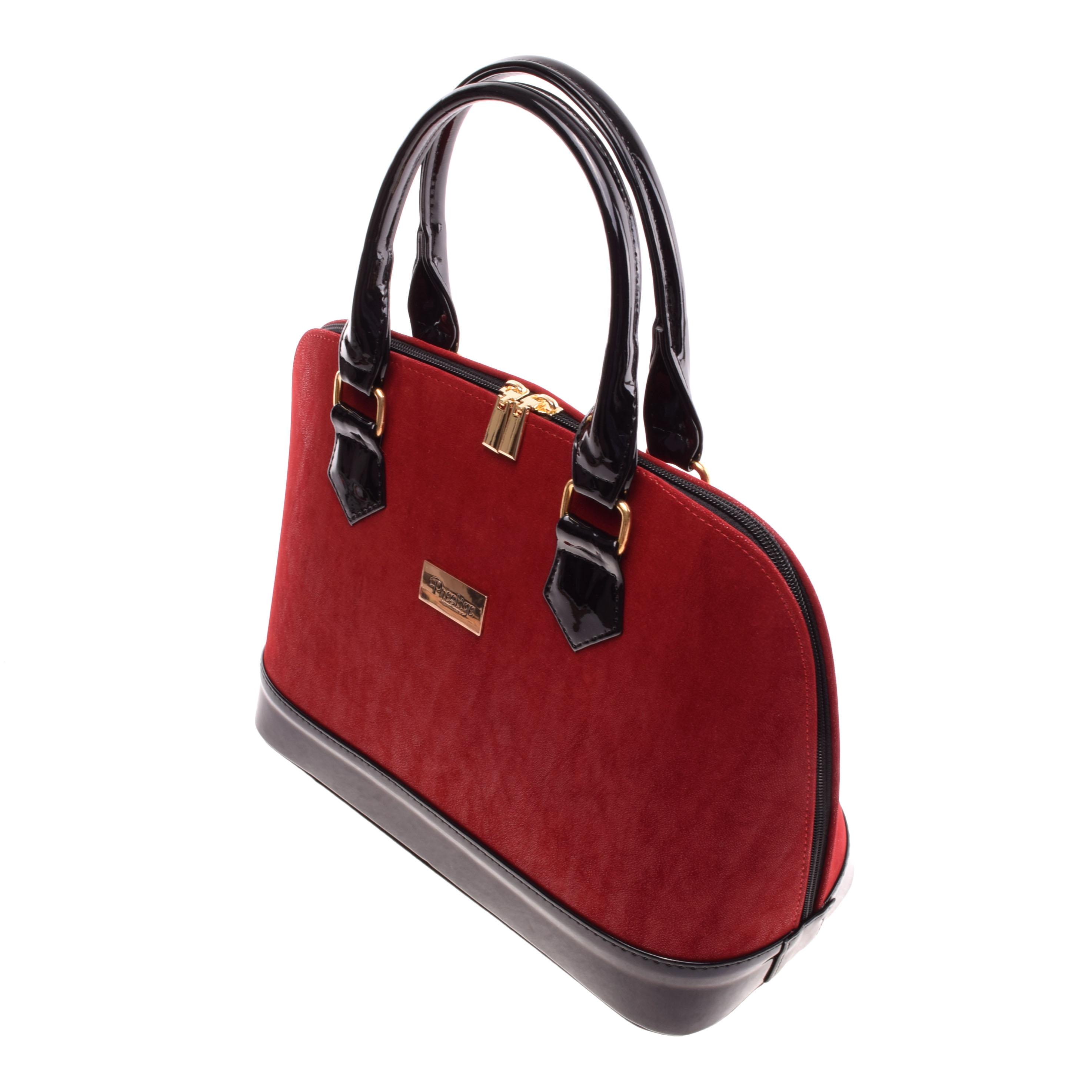 Prestige Női Fekete Piros Művelúr-Lakk Kézitáska - Válltáskák - Táska  webáruház - Minőségi táskák mindenkinek 6f98e9d41e
