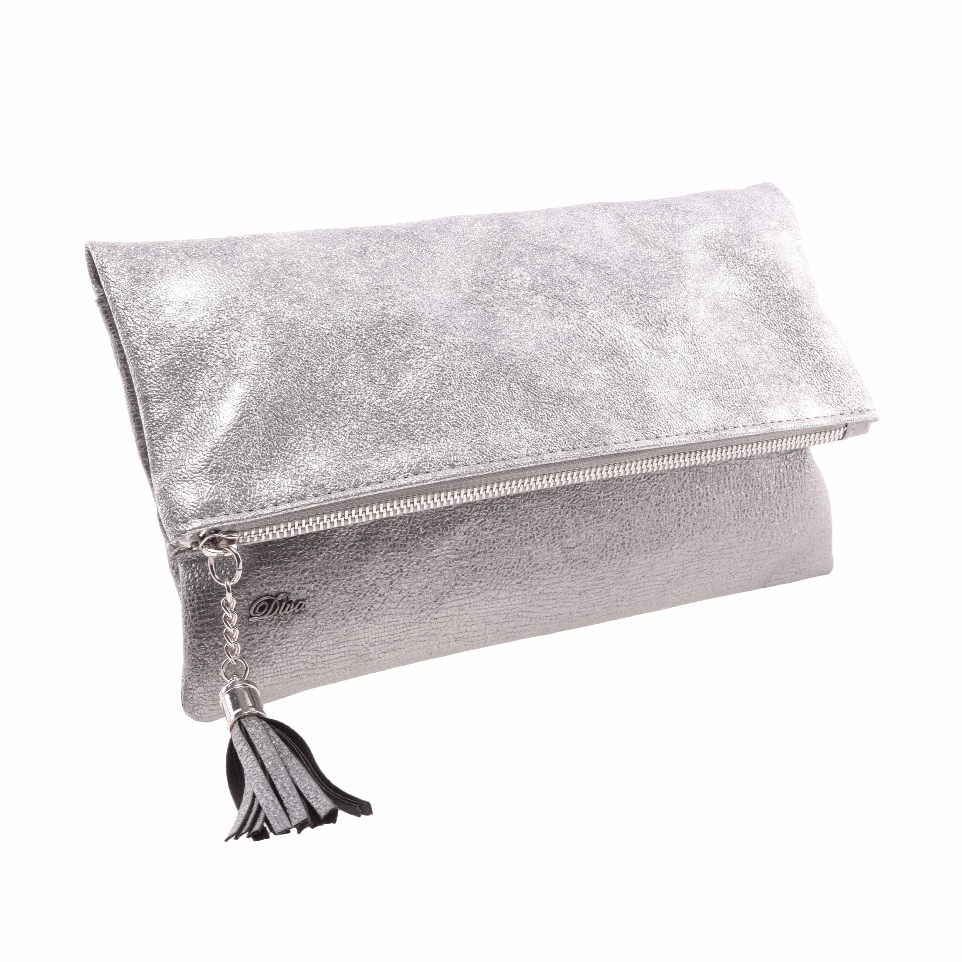 10e8cbfd1bbd Diva Női Ezüst Rostbőr Kézításka - Kézitáskák - Táska webáruház - Minőségi  táskák mindenkinek
