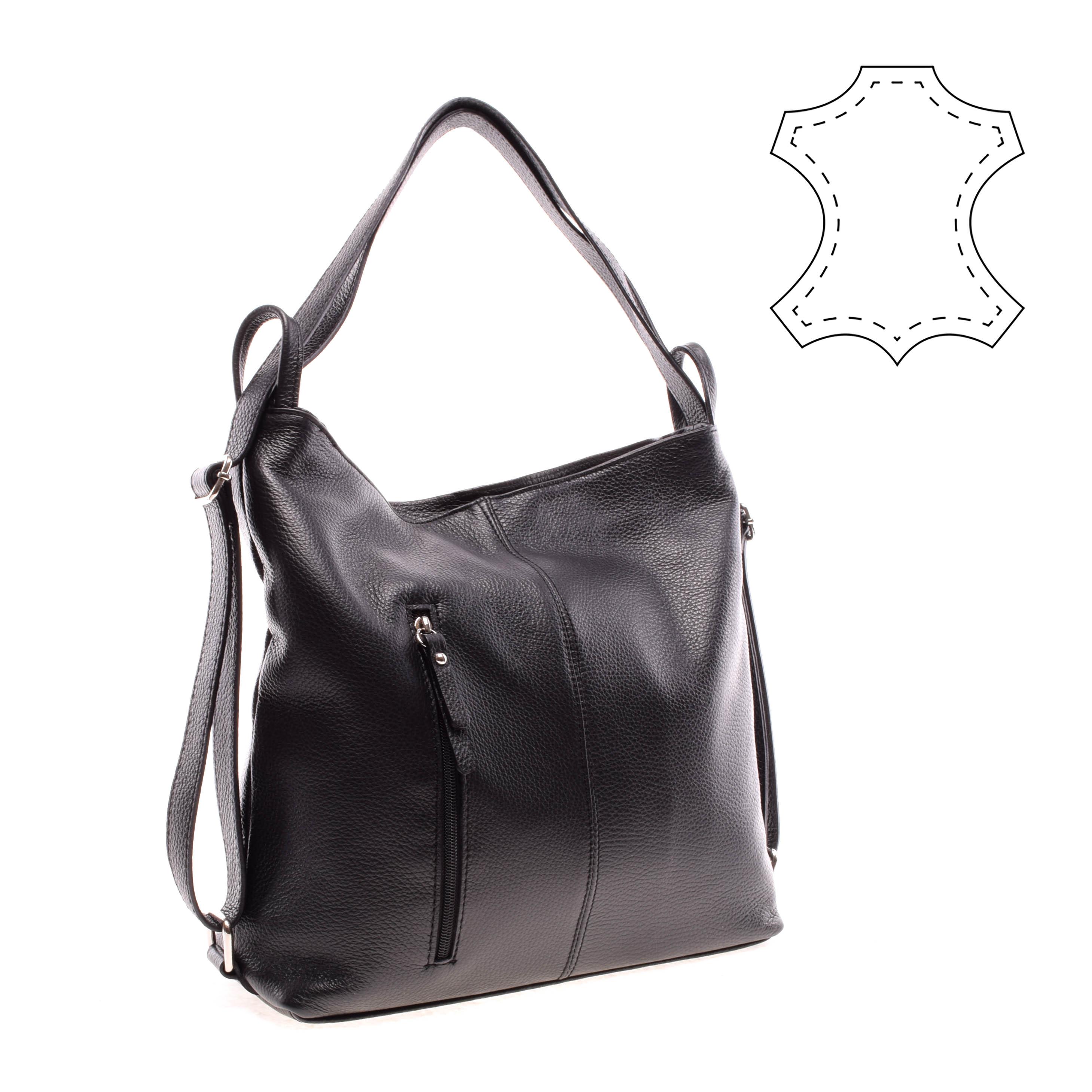 2b79e43a4e71 Mat's Női Fekete Bőr Átalakítható Válltáska - Válltáskák - Táska webáruház  - Minőségi táskák mindenkinek