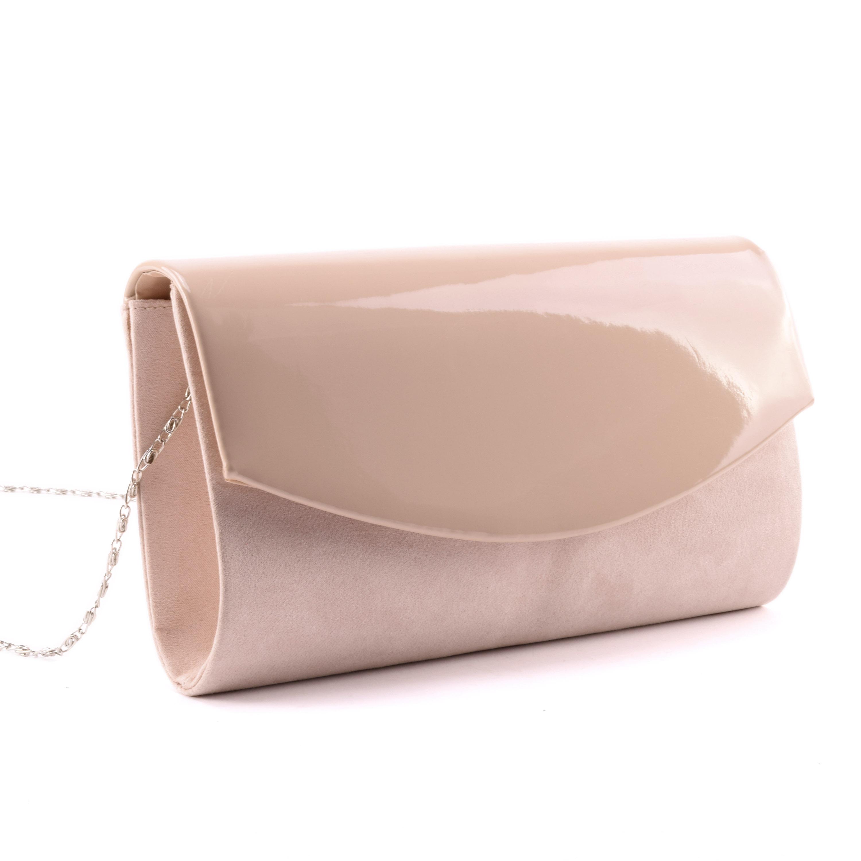 be8fbeef0d04 Púder színű női lakk művelúr alkalmi táska - Alkalmi táskák - Táska  webáruház - Minőségi táskák mindenkinek