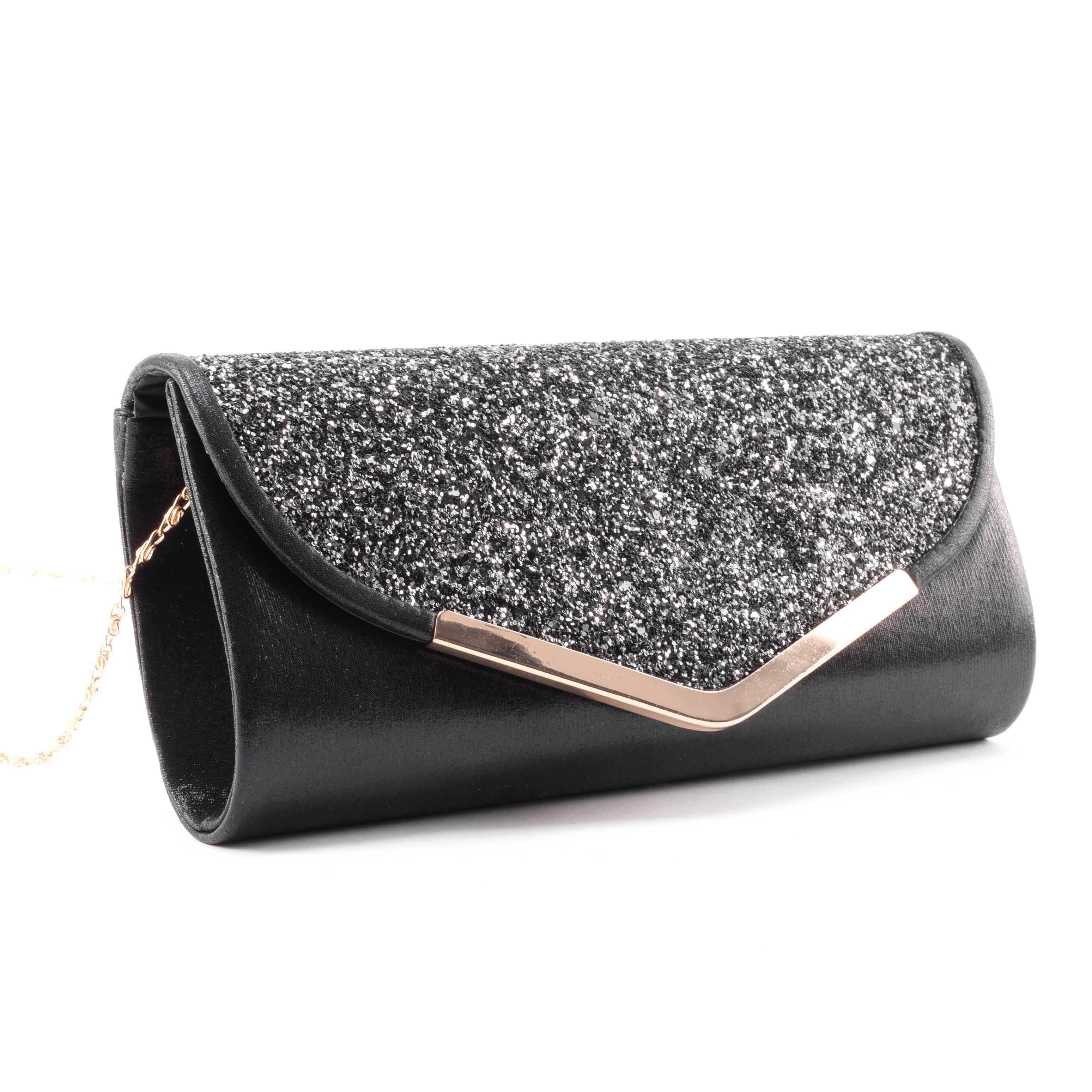 Fekete női csillámos alkalmi táska - Alkalmi táskák - Táska webáruház -  Minőségi táskák mindenkinek 920f038e82