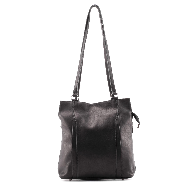 35d417ea8c39 Besty Valódi Bőr Fekete Válltáska/ Hátizsák - VALÓDI BŐRTÁSKÁK - Táska  webáruház - Minőségi táskák mindenkinek