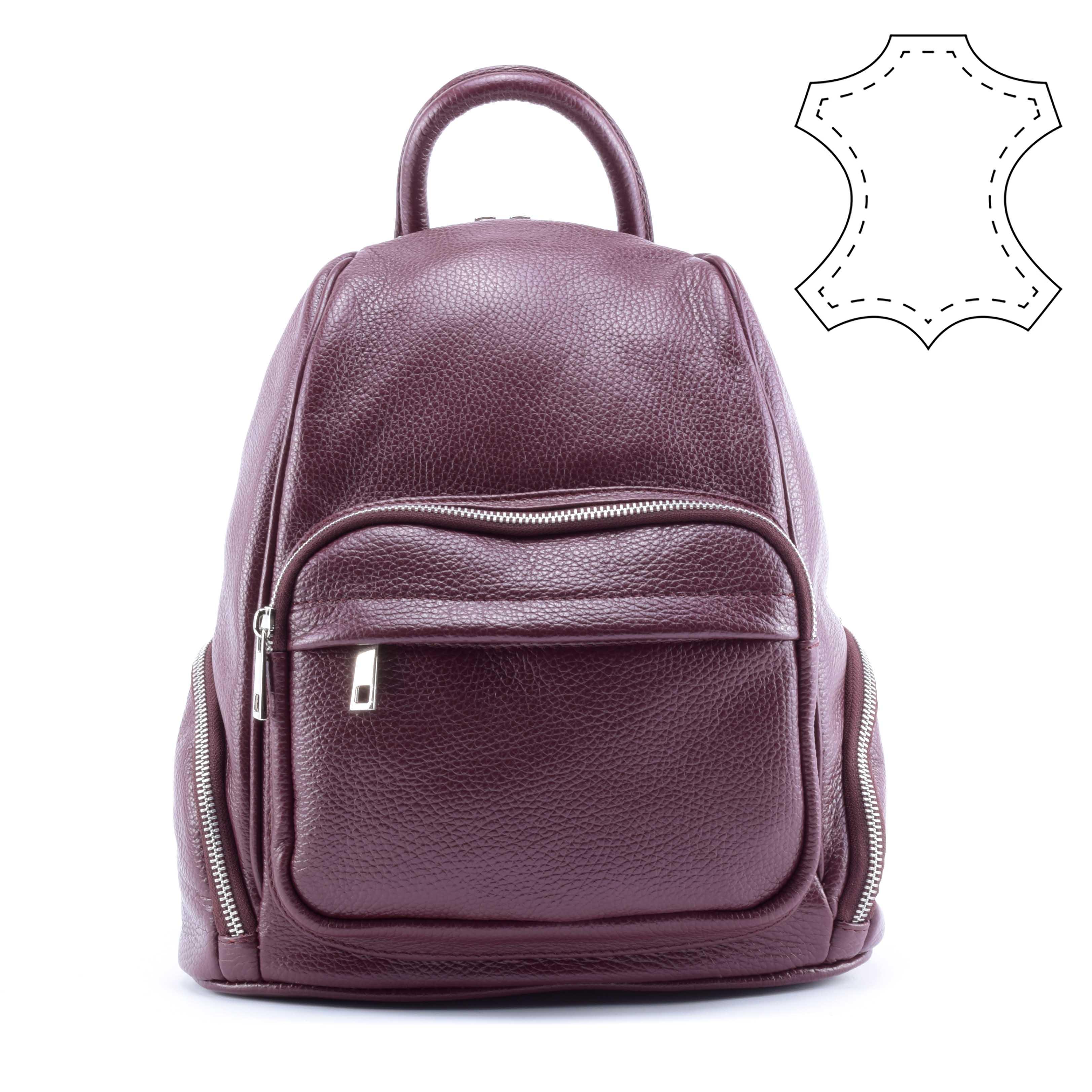 ViVien bordó női valódi bőr hátizsák - VALÓDI BŐRTÁSKÁK - Táska webáruház -  Minőségi táskák mindenkinek 33df422401
