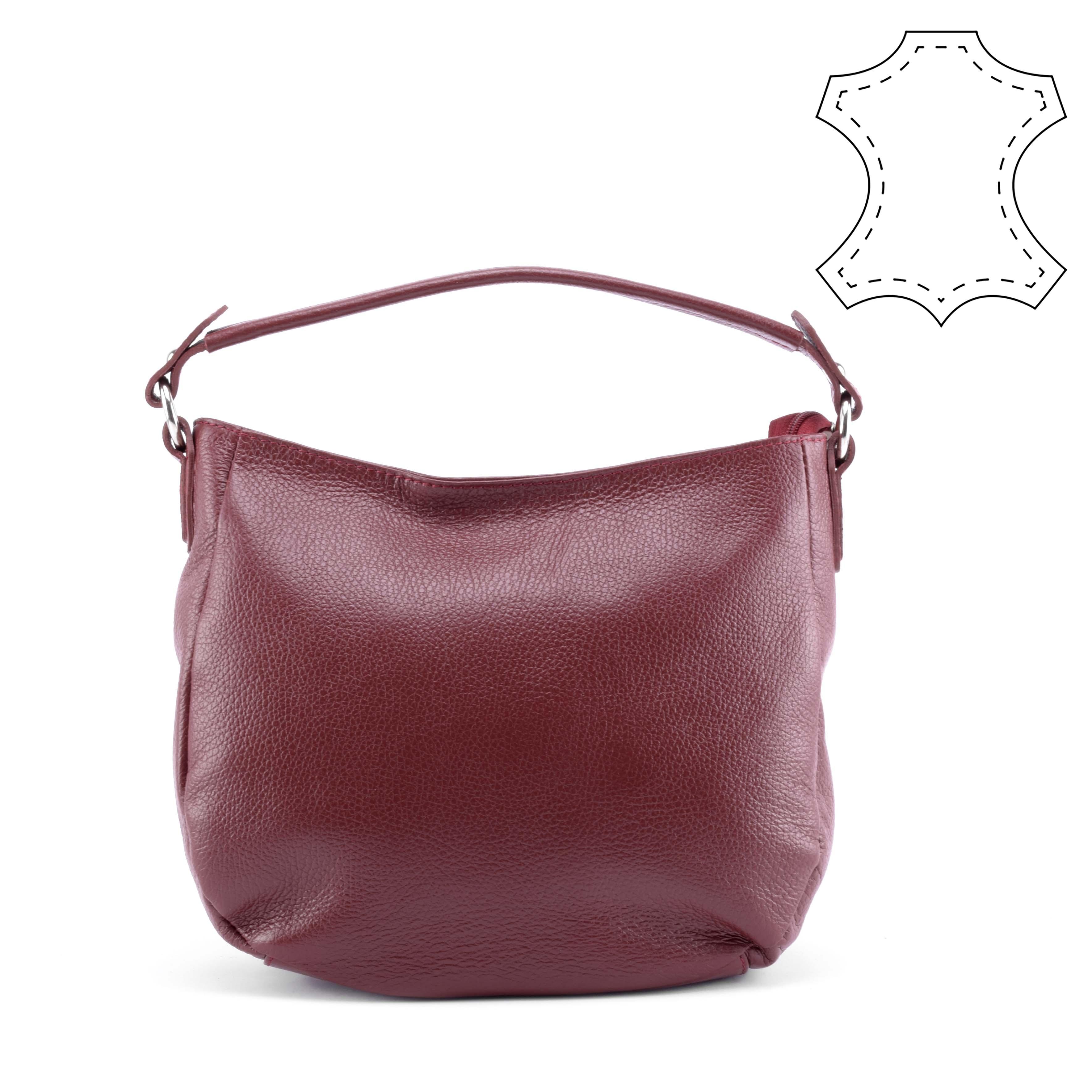 0232d4ab1c6a Bordó női bőr válltáska - Válltáskák - Táska webáruház - Minőségi táskák  mindenkinek