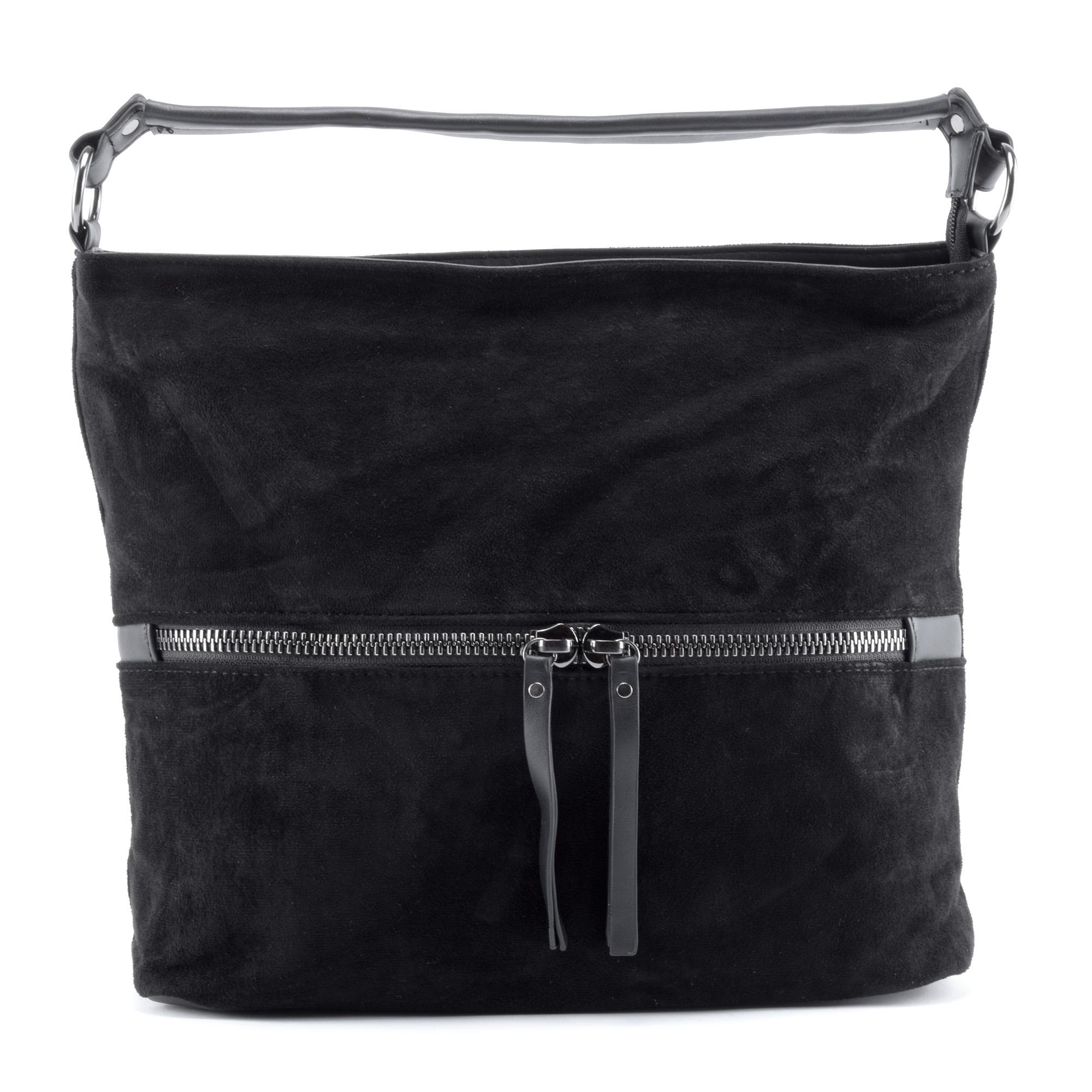 USF fekete női művelúr válltáska - Válltáskák - Táska webáruház - Minőségi  táskák mindenkinek 220e9467ce