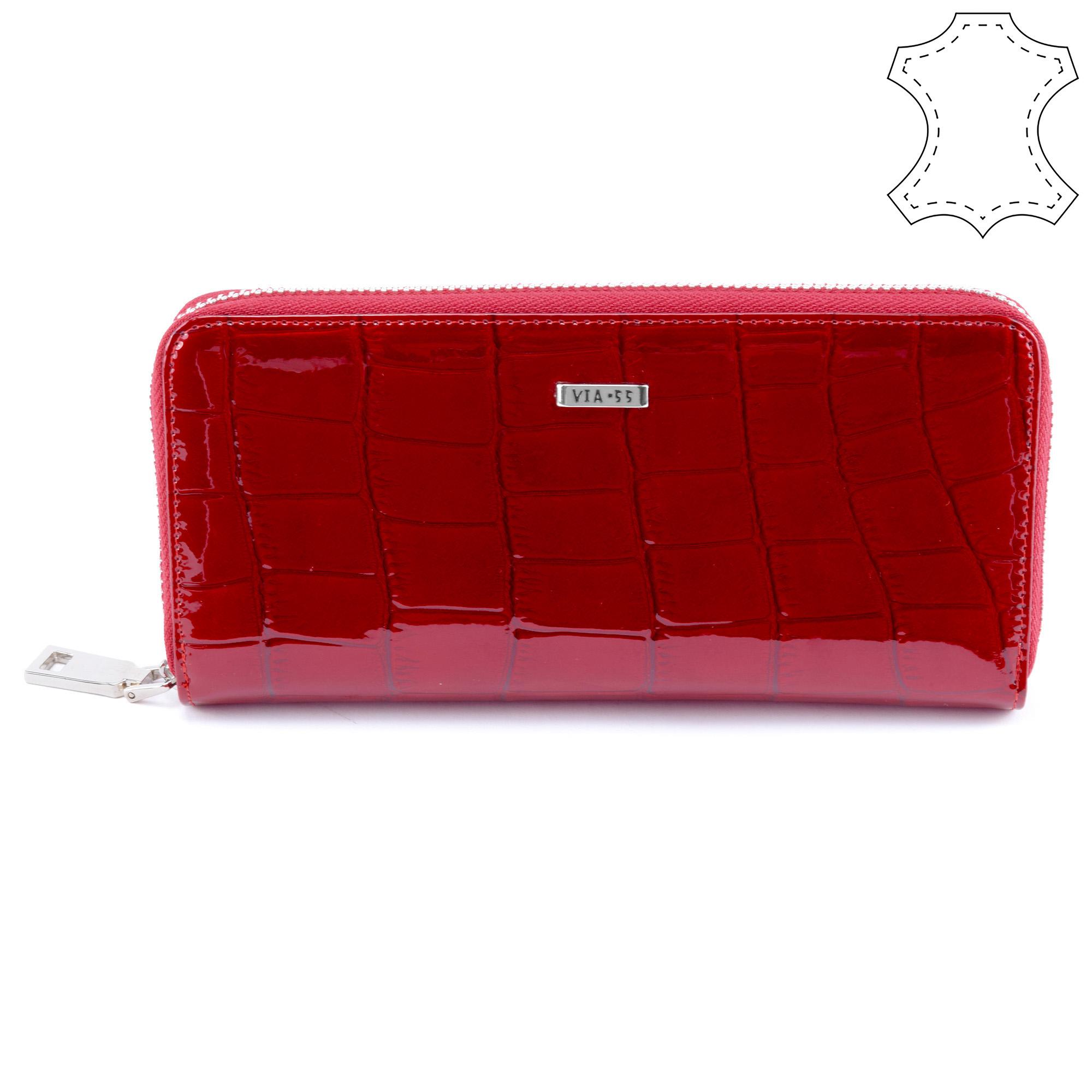 a6dad73f19bb VIA55 Női Lakkbőr Pénztárca Piros - NŐI PÉNZTÁRCÁK - Táska webáruház -  Minőségi táskák mindenkinek