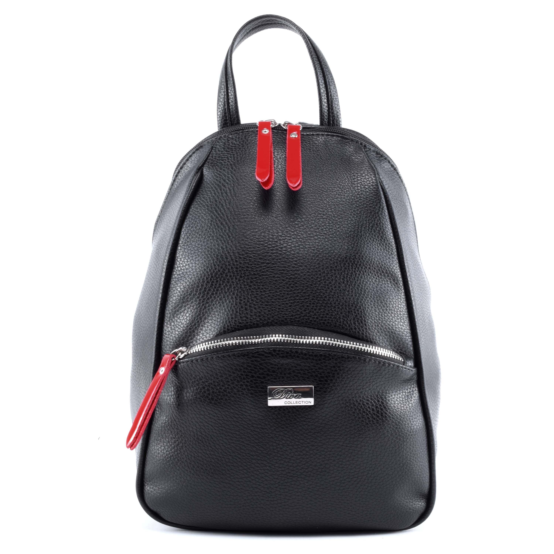Diva Női Fekete-Piros Rostbőr Hátizsák - Műbőr - Táska webáruház - Minőségi  táskák mindenkinek 99408f0f4f